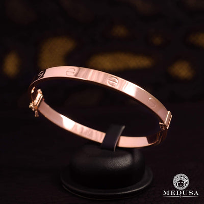 Bracelet Rigide en Or 14K | Bracelet Femme Bangle X1 - Love Or Rose
