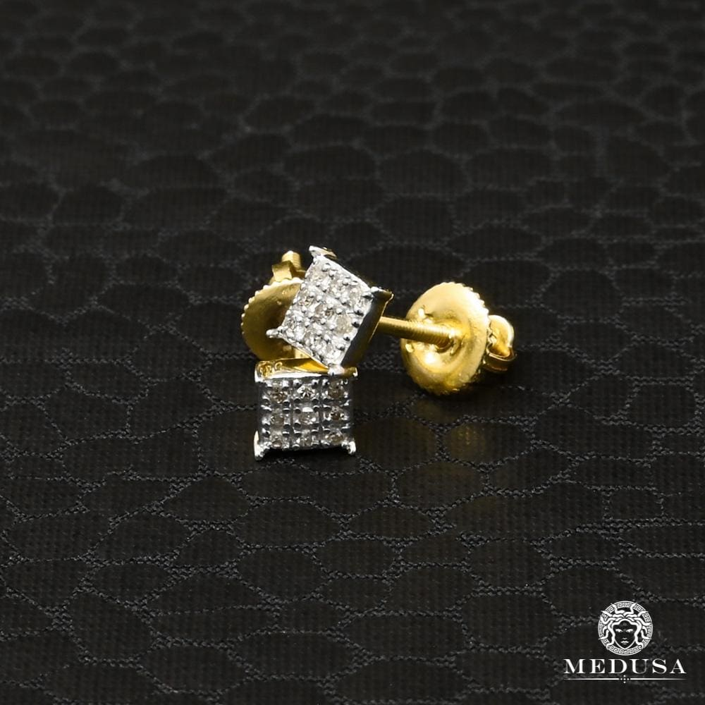 Studs Diamants en Or 10K | Boucles d'Oreilles Boucles d'Oreilles Diamants 1 / Or Jaune