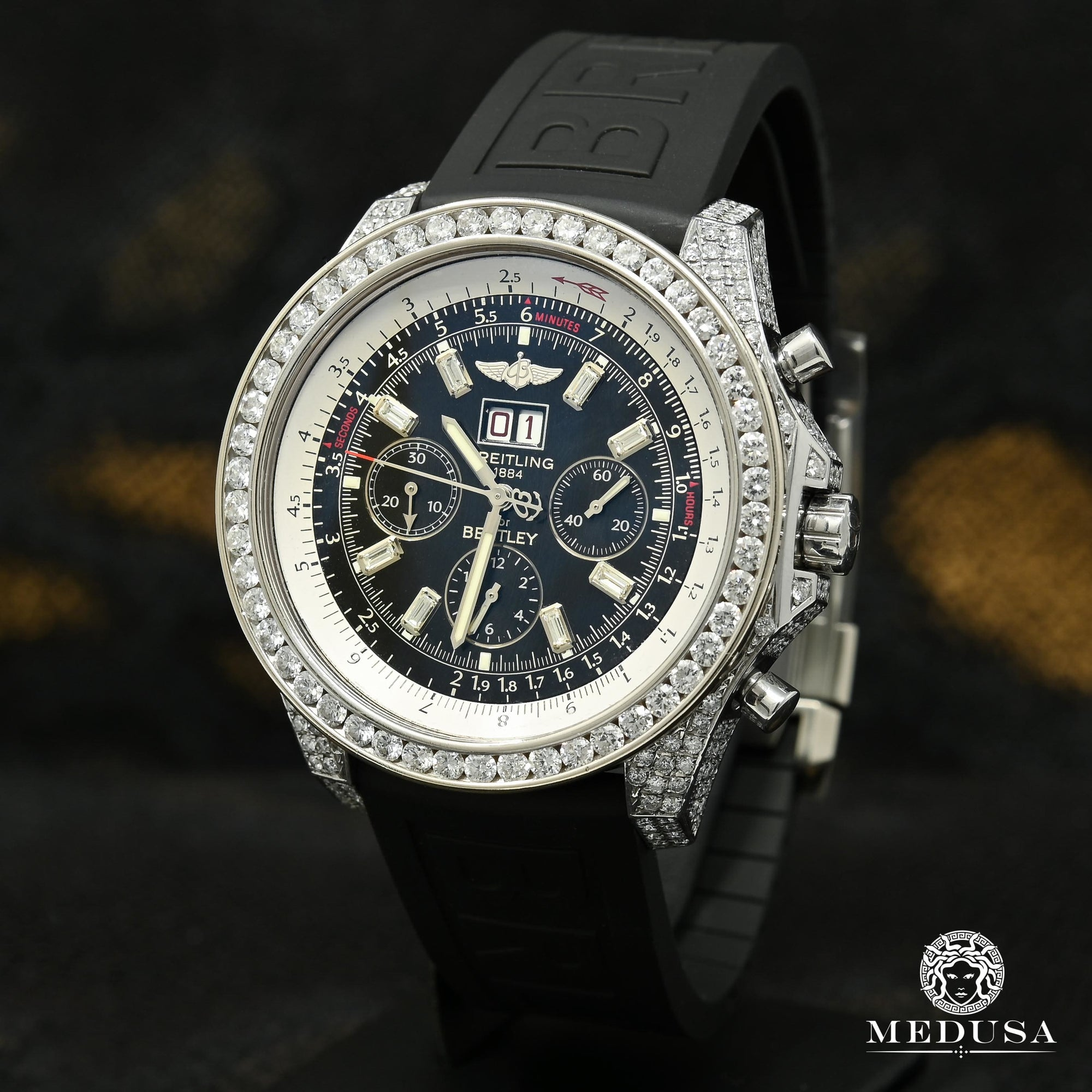 Montre Breitling | Montre Homme Breitling for Bentley - Dive Iced Stainless