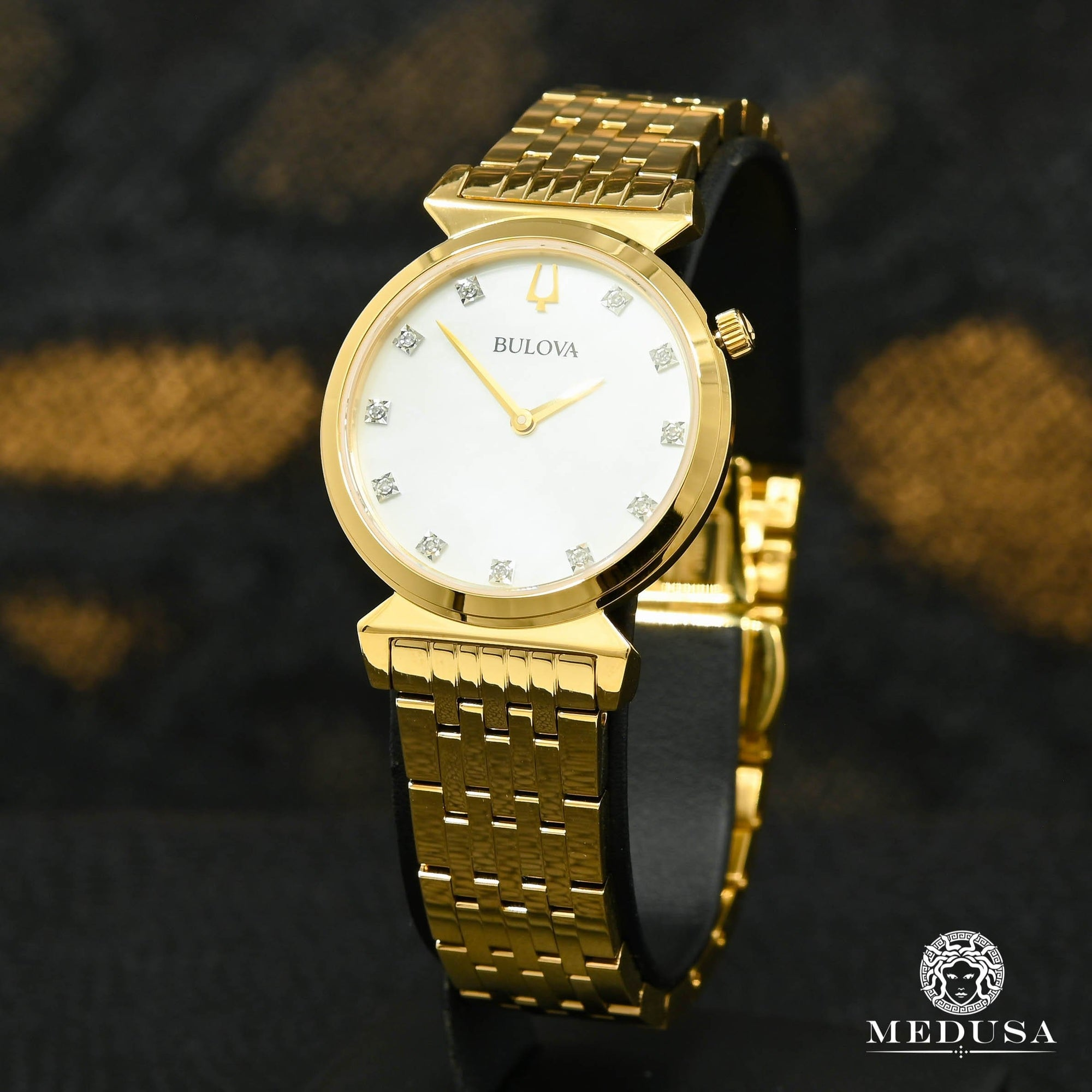 Bulova Watch | Bulova Classic Ladies Watch - 97P149 Yellow Gold