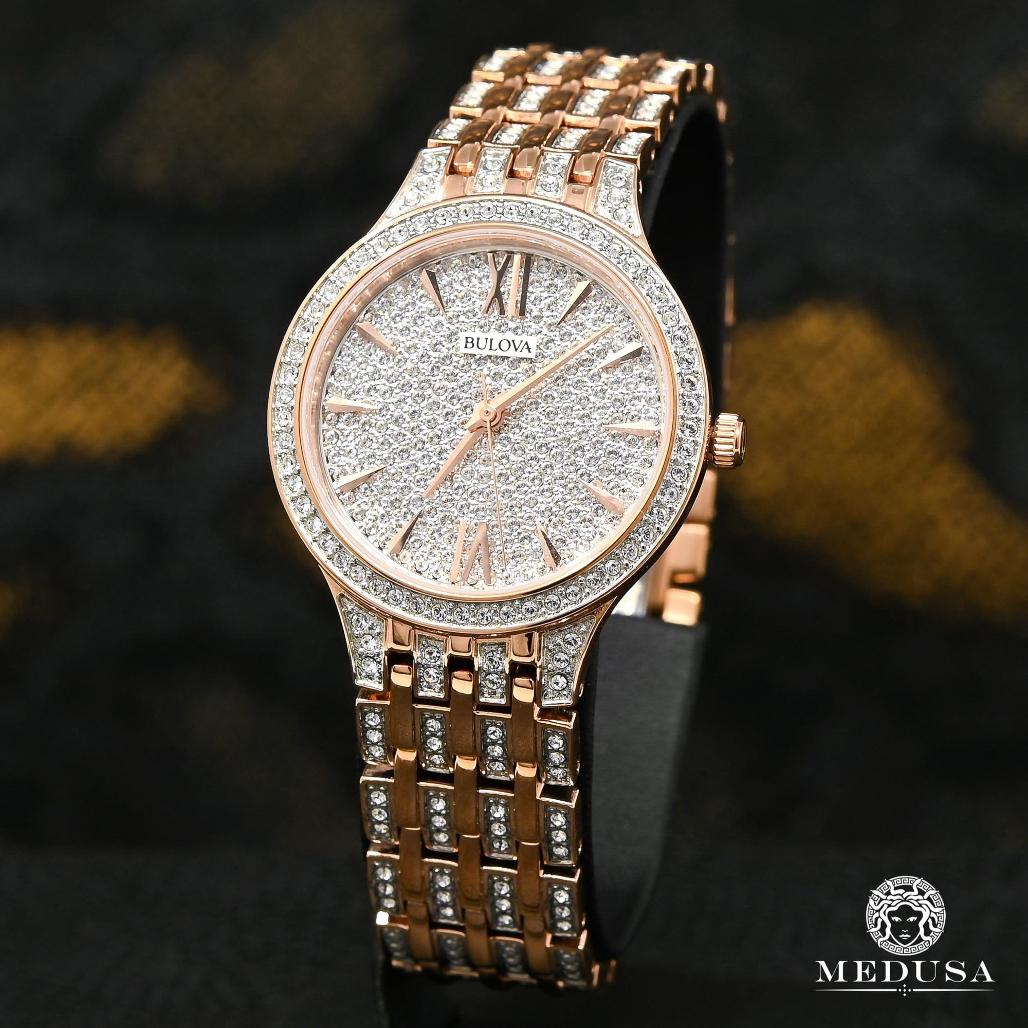 Bulova Watch Bulova Crystal Woman Watch - 98L235 Swarovski / Rose Gold