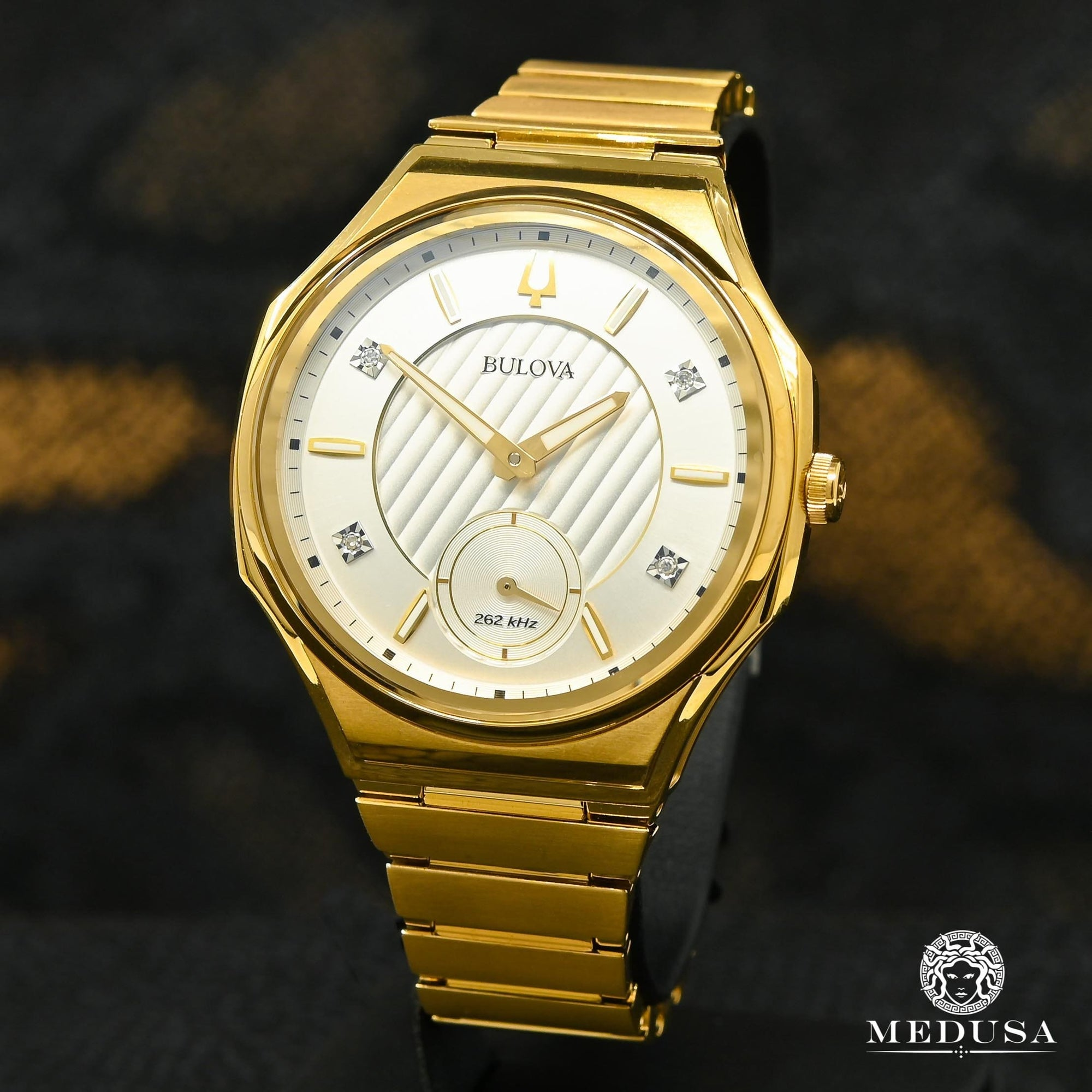 Montre Bulova | Montre Femme Bulova Curv - 97P136 Diamond / Or Yellow
