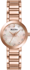 Montre Bulova | Montre Femme Bulova Futuro - 97P132 Or Rose / Diamants