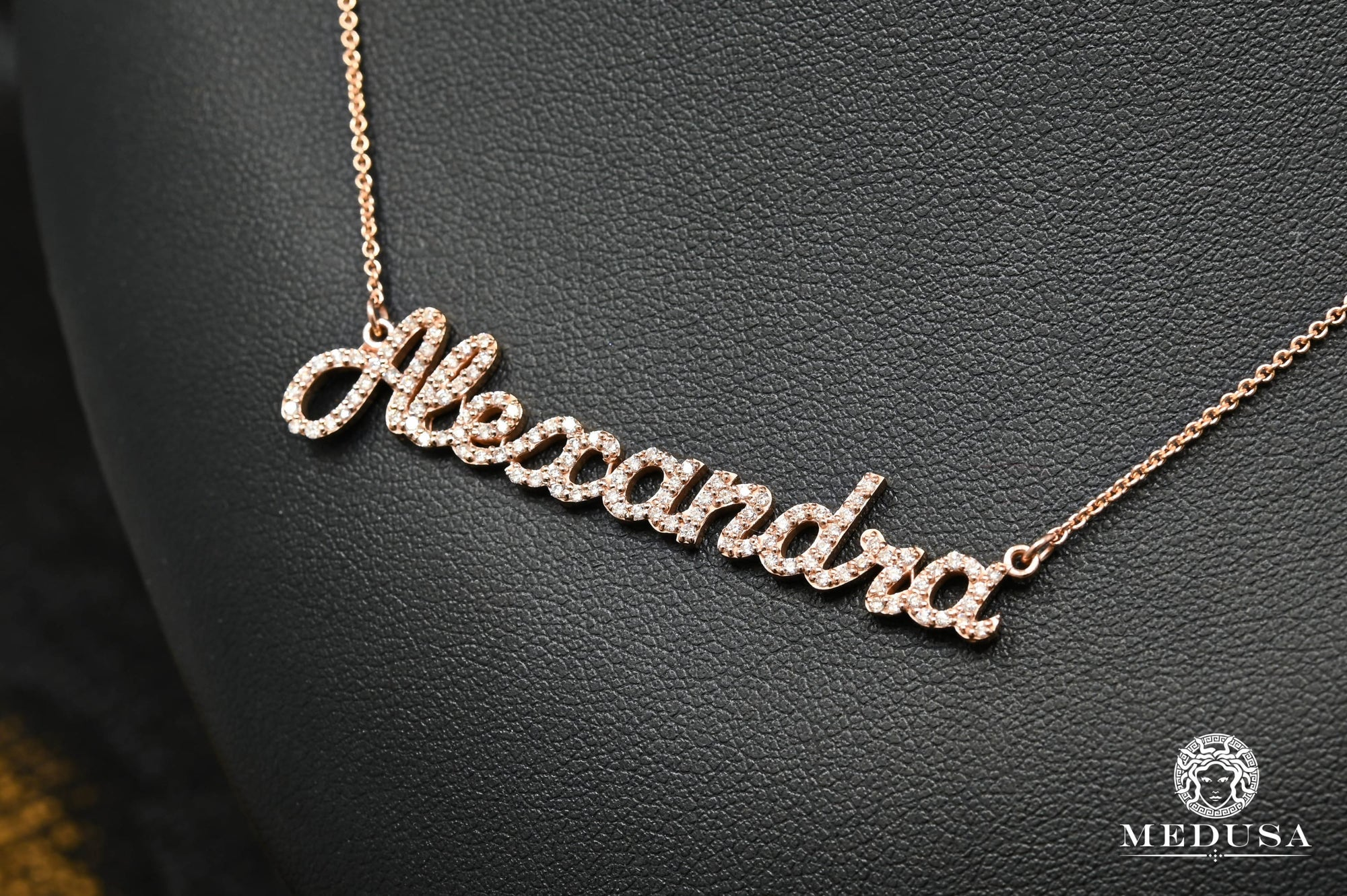 Custom Made Diamond Name Necklace