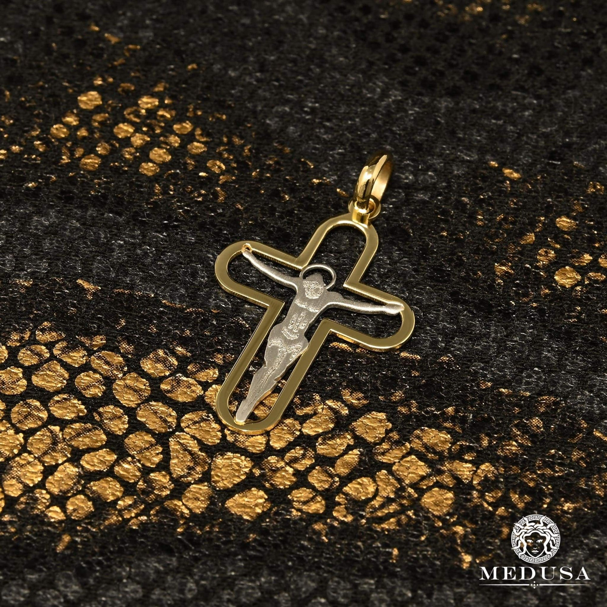 Breloque en Or 10K | Pendentif Breloque Crusty F15 Or 2 Tons