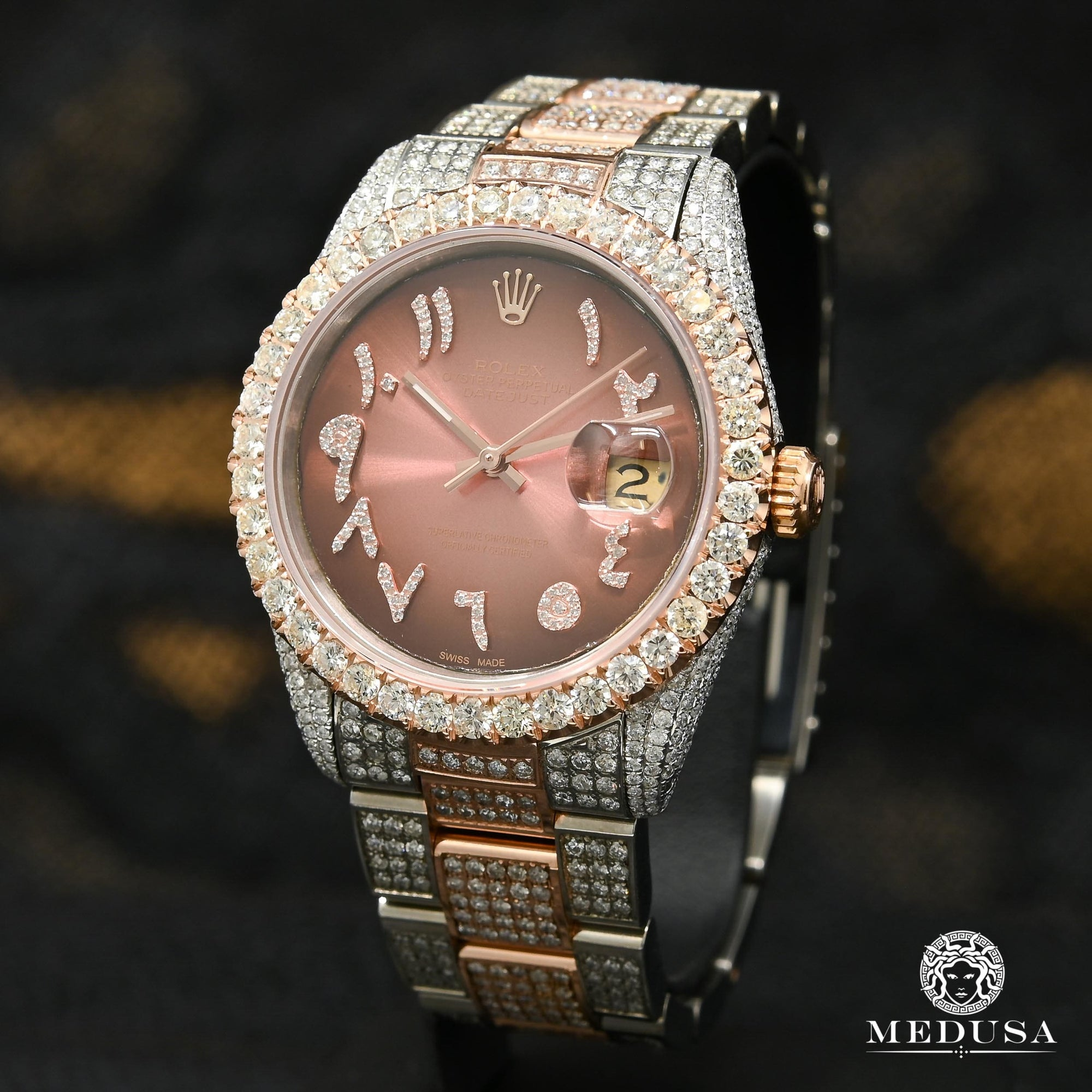 Datejust 36mm - Rose 2 Tons Arabic Chocolate