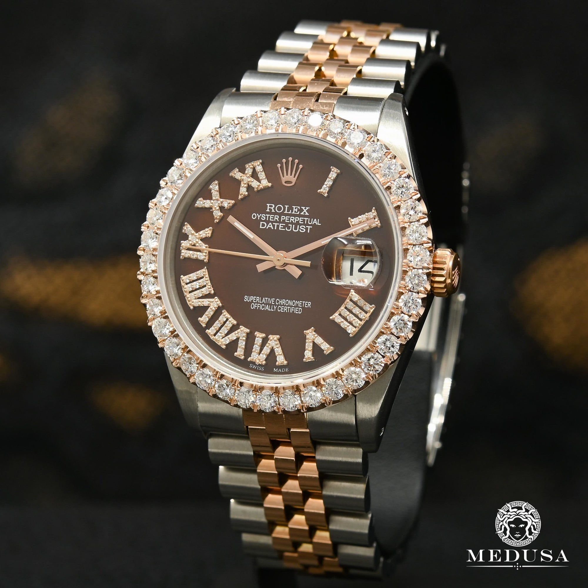 Datejust 36mm - Rose 2 Tons Chocolate