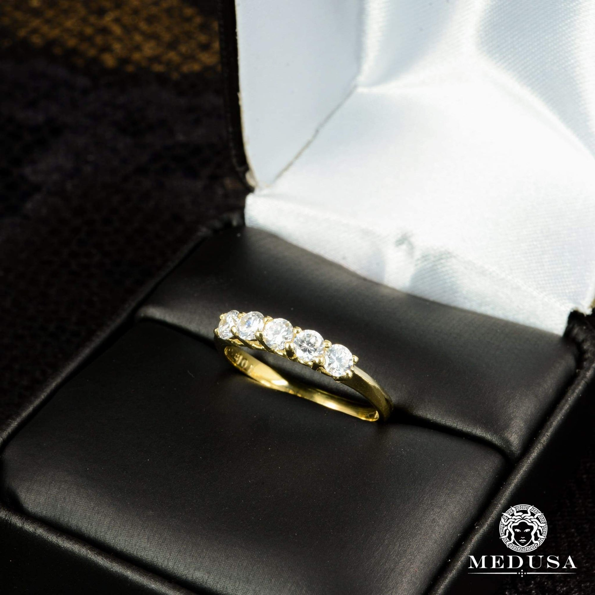 Bague à Diamants en Or 14K | Bague Fiançaille Eternity F12 - MA0710 Or Jaune