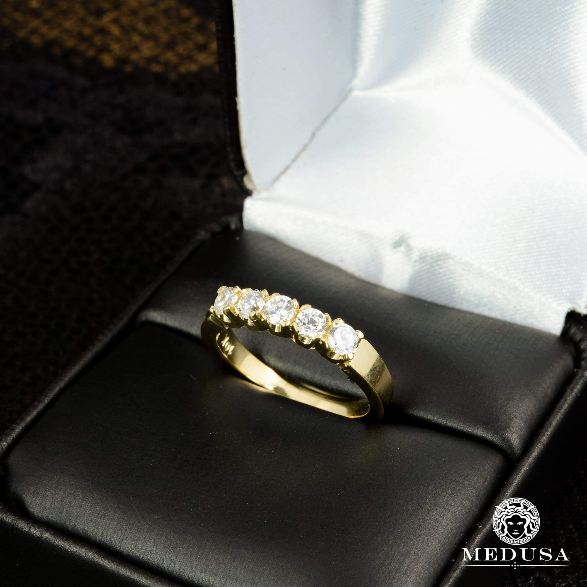 Bague à Diamants en Or 14K | Bague Fiançaille Eternity F14 - MA0178 Or Jaune