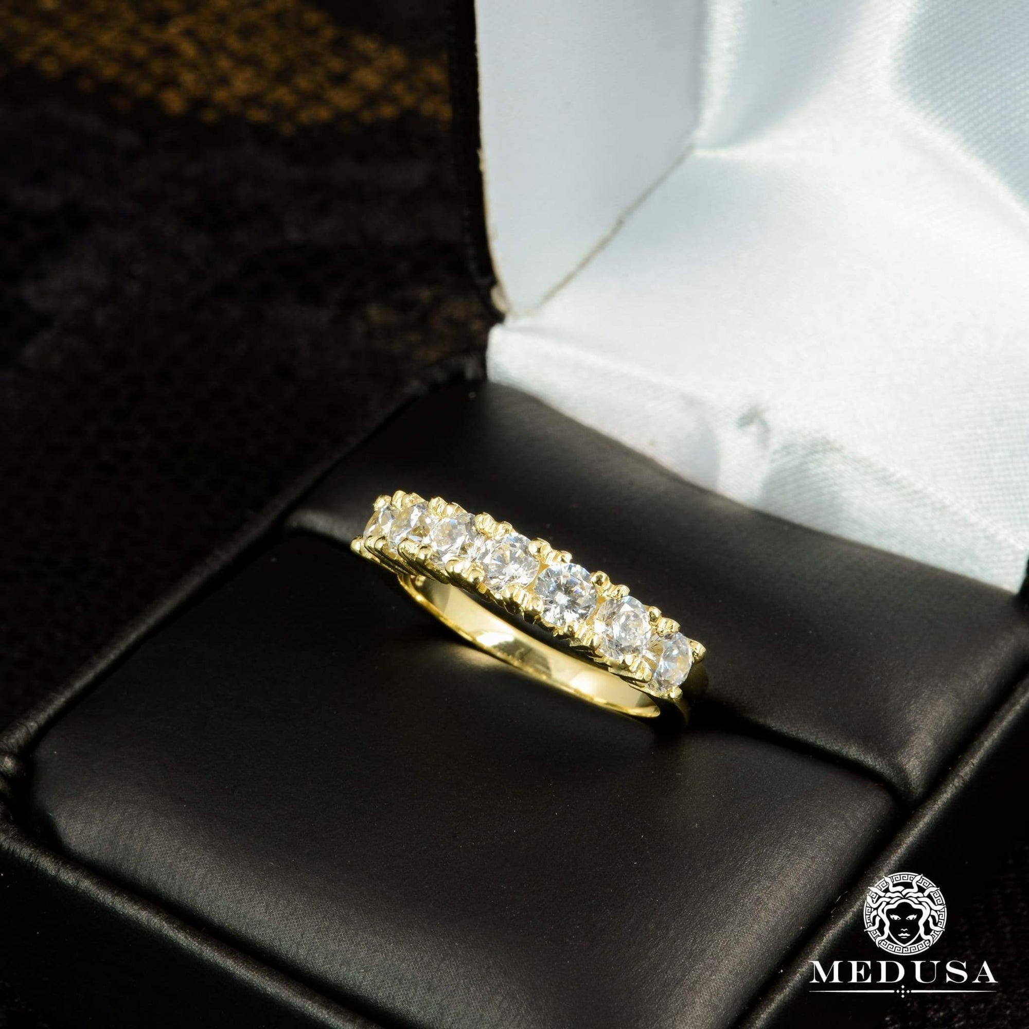 Bague à Diamants en Or 14K | Bague Fiançaille Eternity F16 - MA0634 Or Jaune