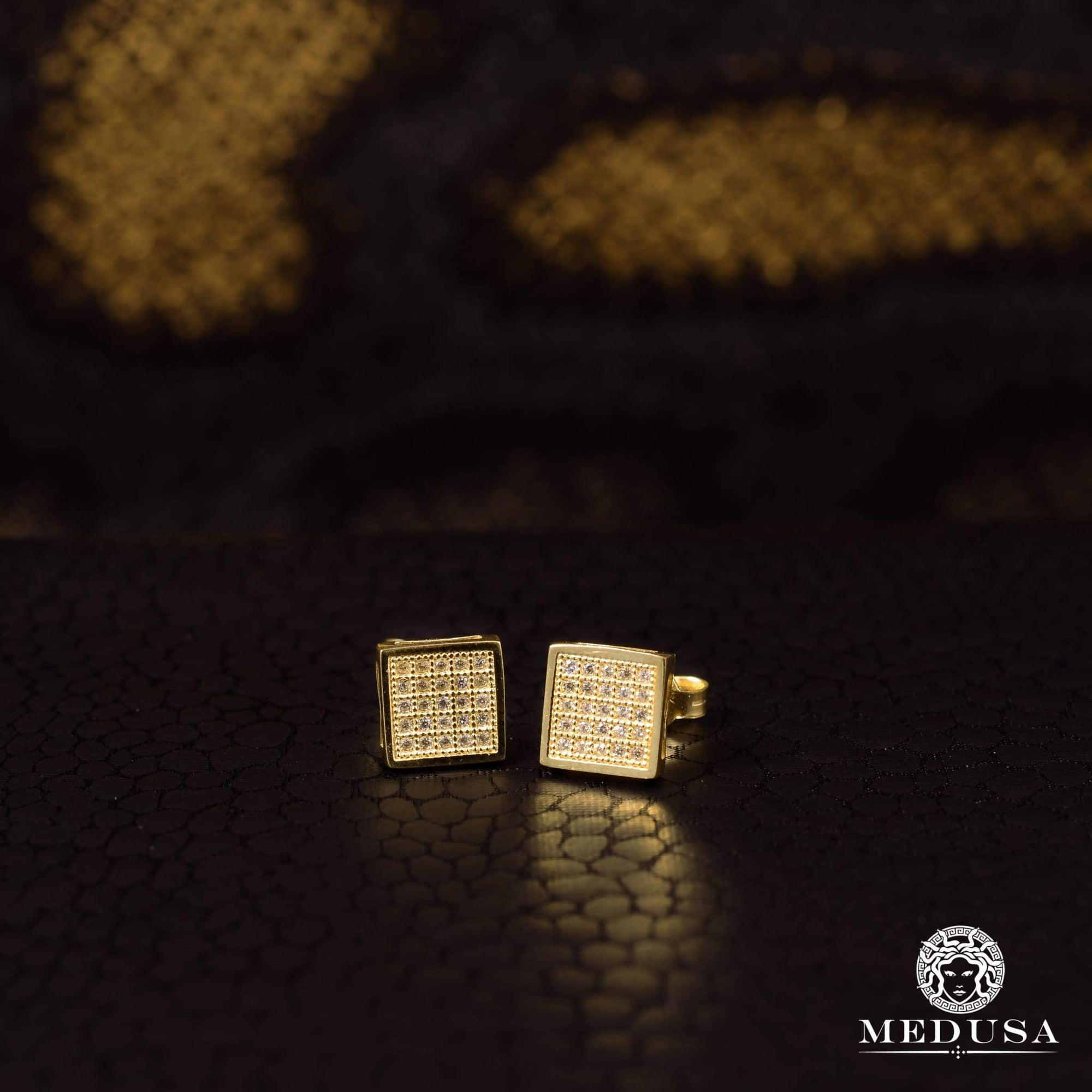 Studs en Or 10K | Boucles dOreilles Forehead F10 Or Jaune