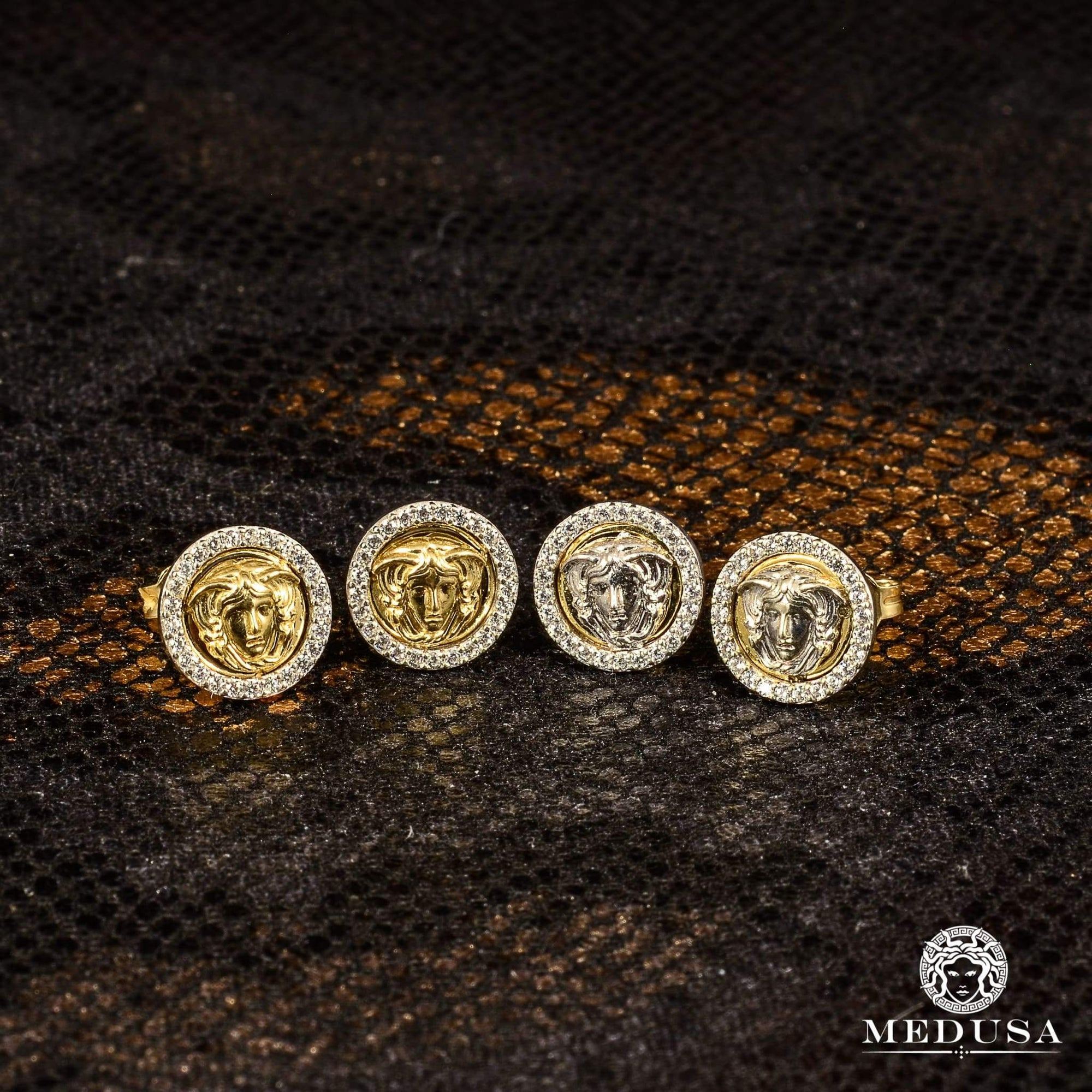 Studs en Or 10K | Boucles dOreilles Forehead F2