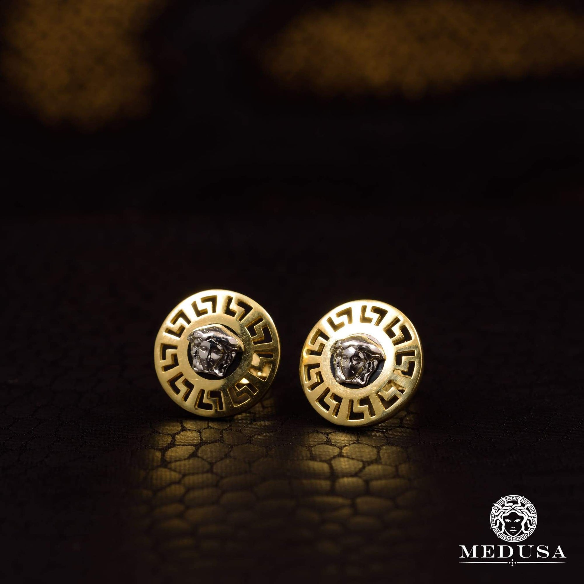 Studs en Or 10K | Boucles dOreilles Forehead F9 Or 2 Tons