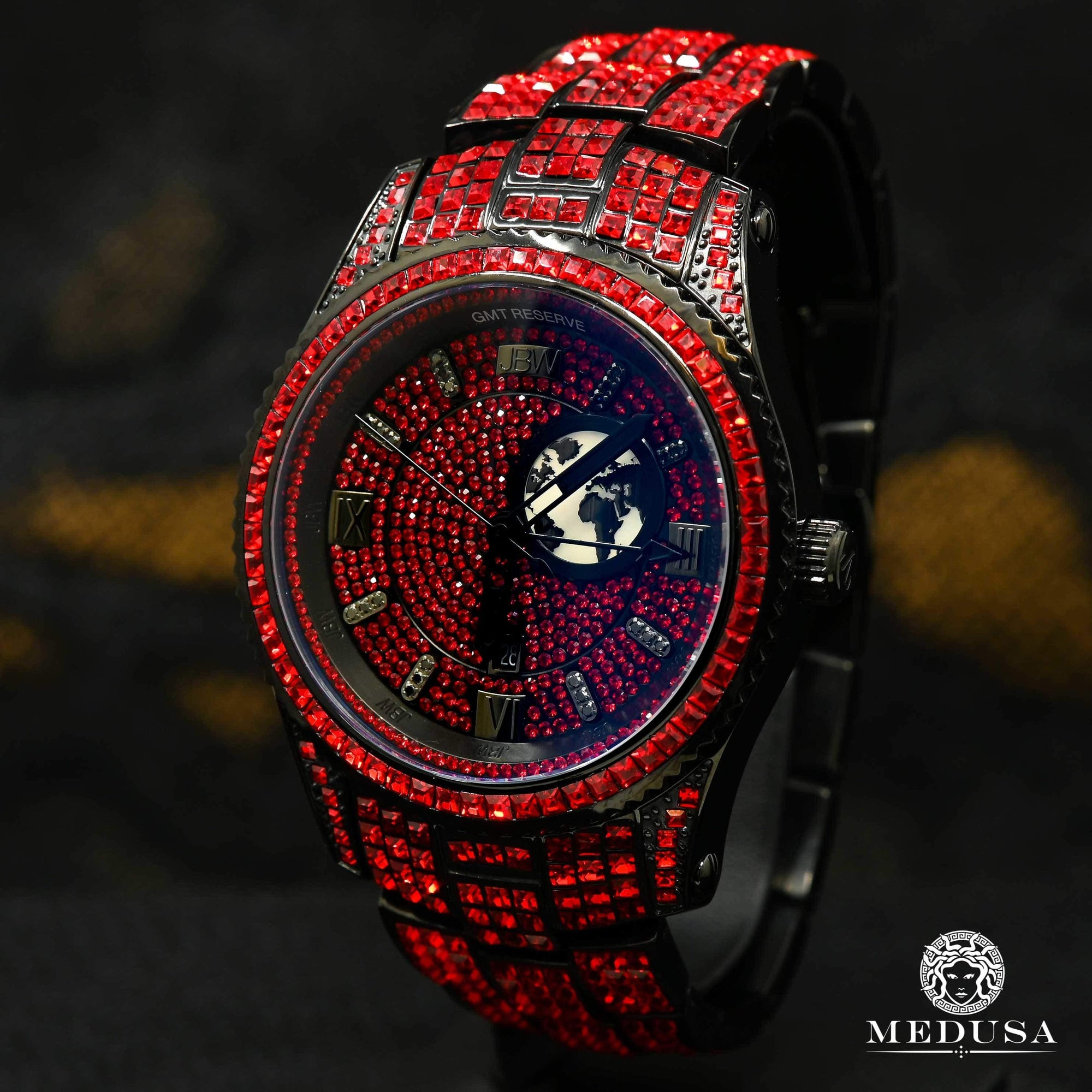 JBW Reserve GTM 46mm - Red Swarovski