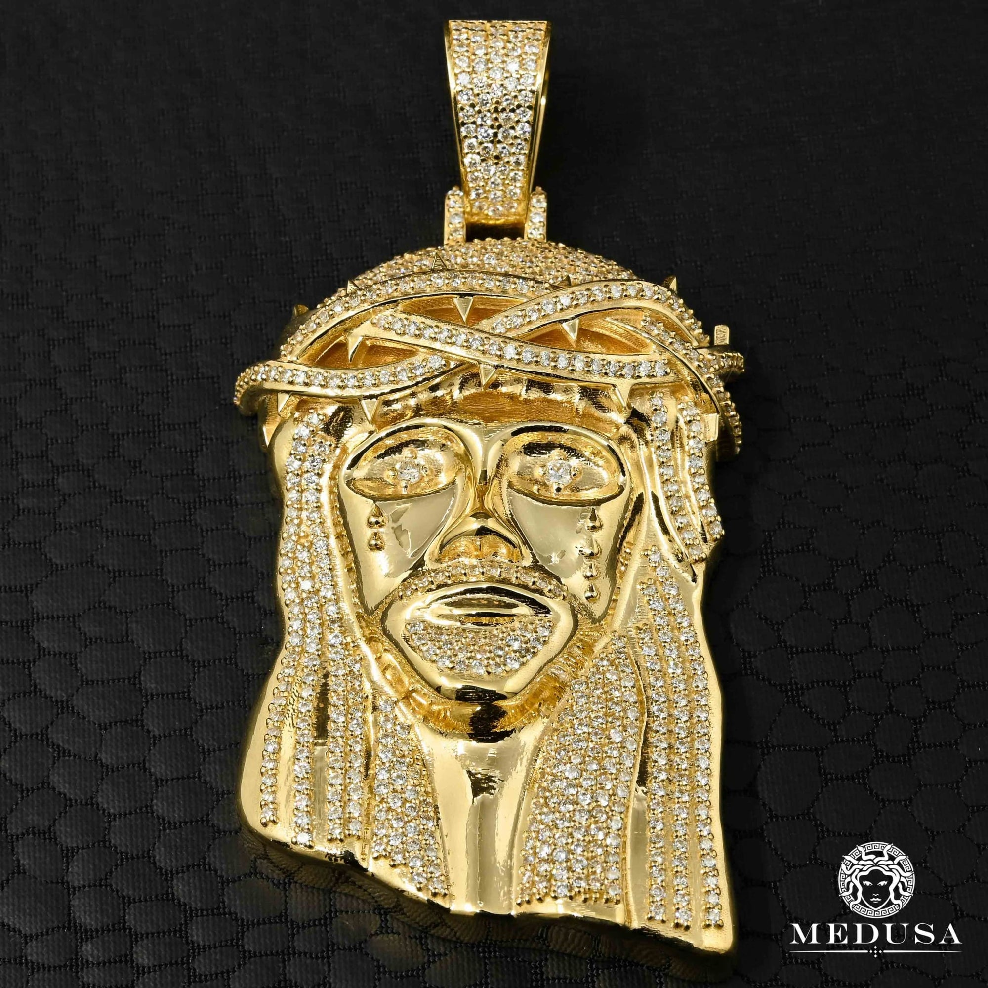 Pendentif à Diamants en Or 10K | Bijoux Custom Jesus D2 - Diamant Or Jaune