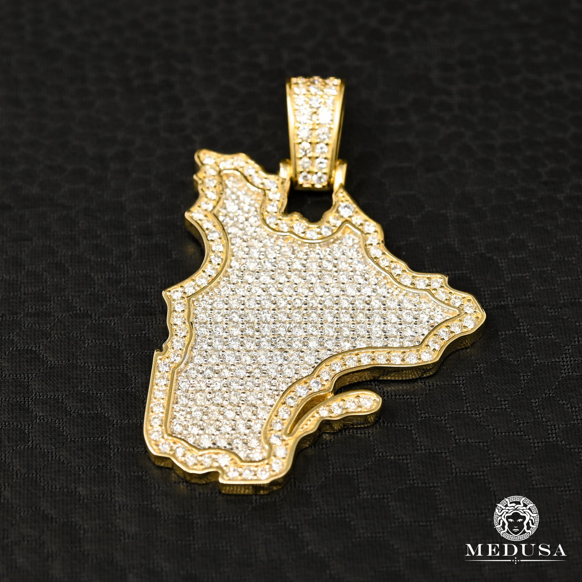 Pendentif à Diamants en Or 10K | Pendentif Divers Quebec D1 - Diamant Or Jaune