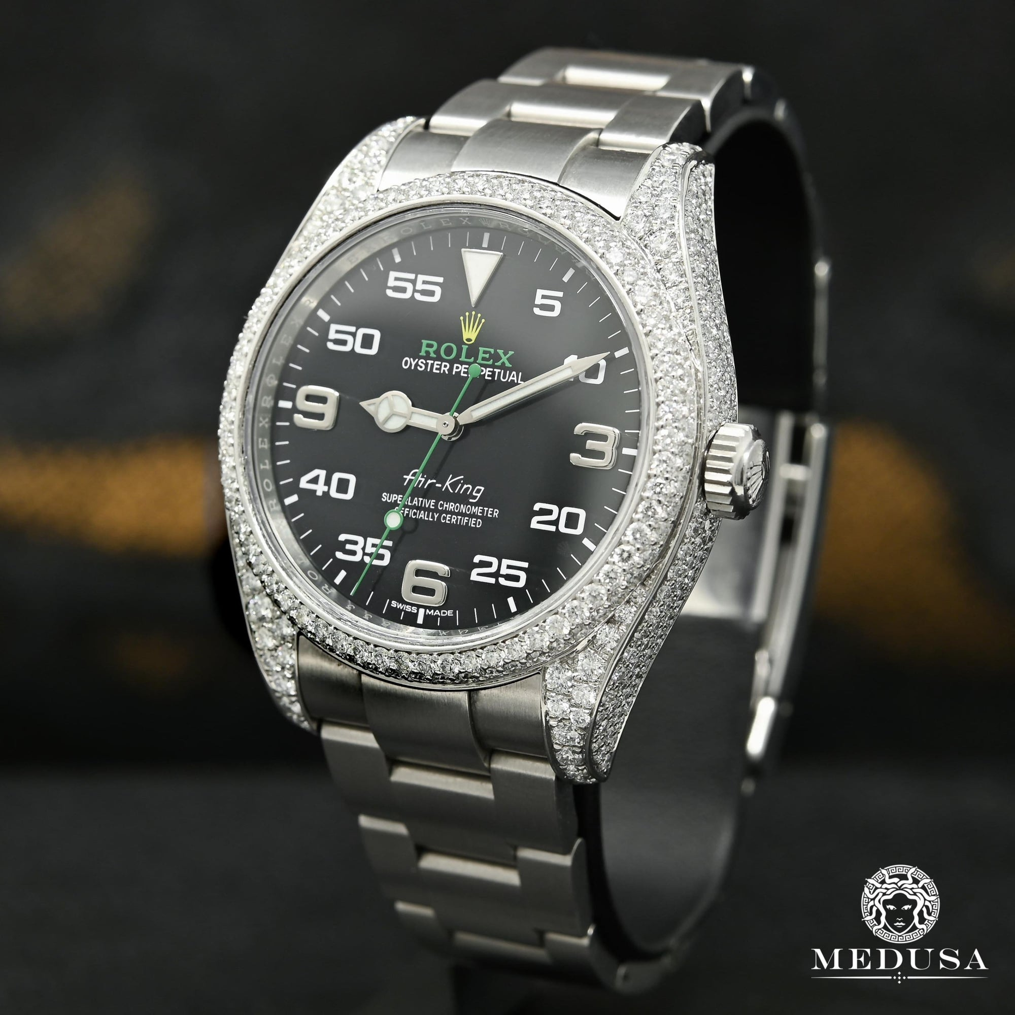 Montre Rolex | Montre Homme Rolex Air-King 40mm - Honeycomb Case Stainless