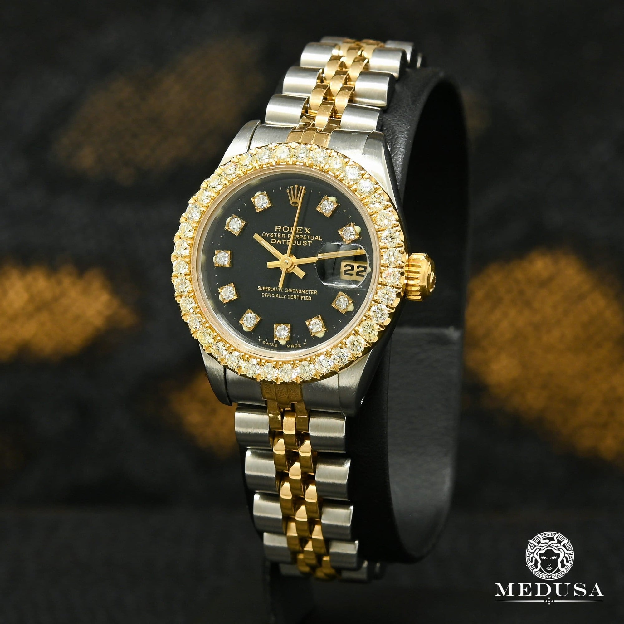 Rolex watch | Rolex Datejust 26mm Woman Watch - Black Gold 2 Tones