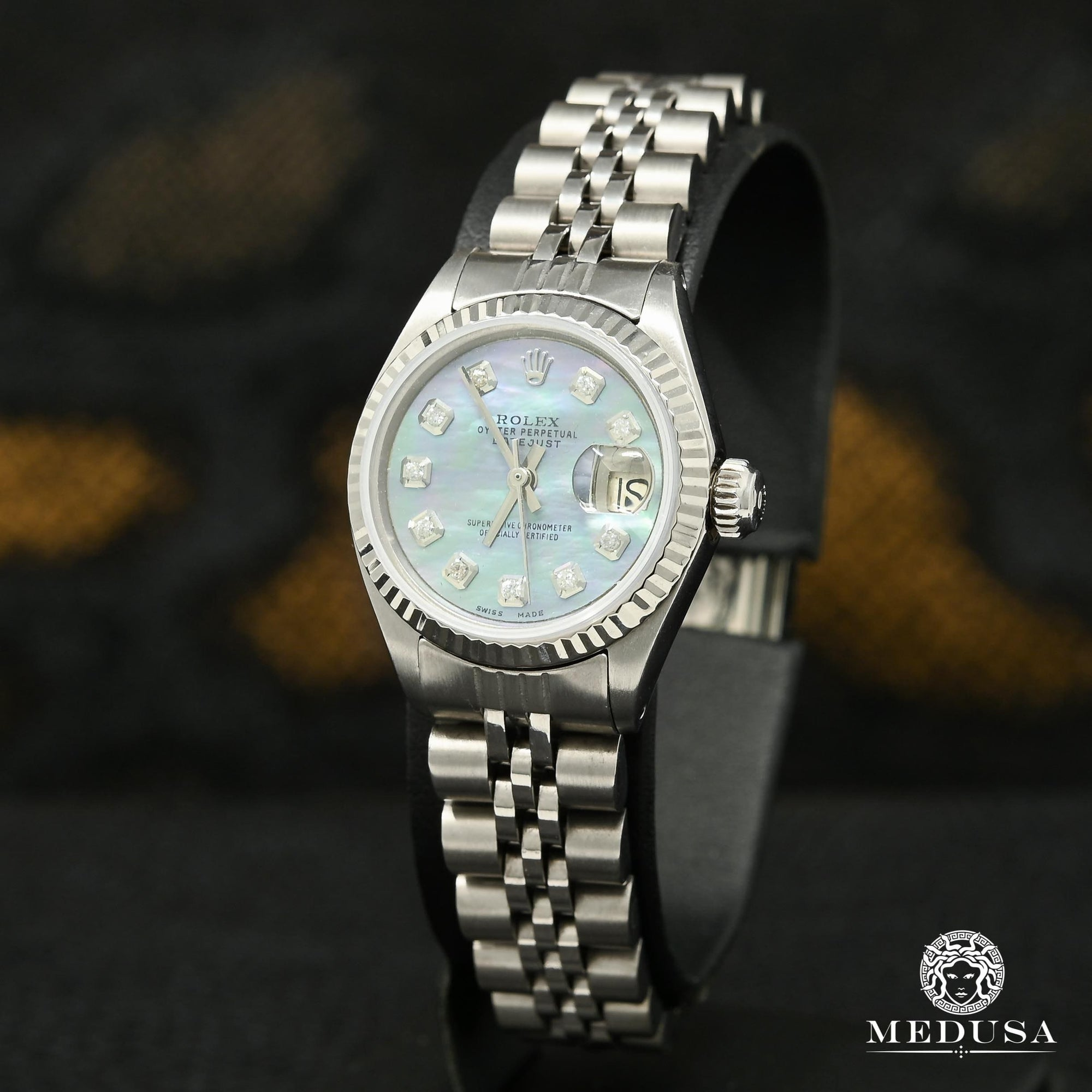 Montre Rolex | Montre Femme Rolex Datejust 26mm - Blue Stainless Stainless