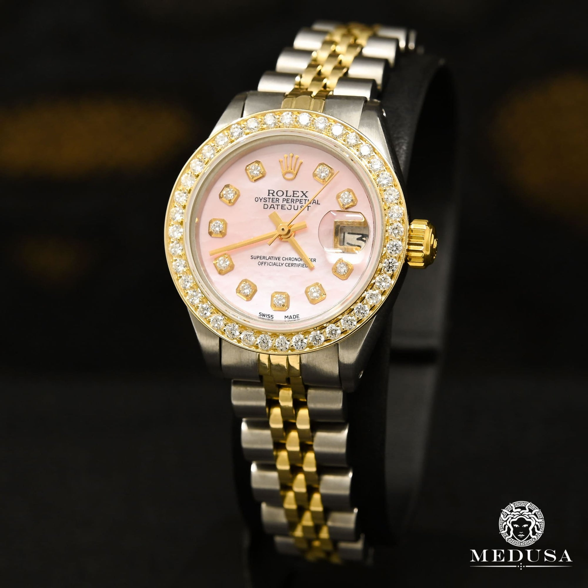 Montre Rolex | Montre Femme Rolex Datejust 26mm - Pink Or 2 Tons