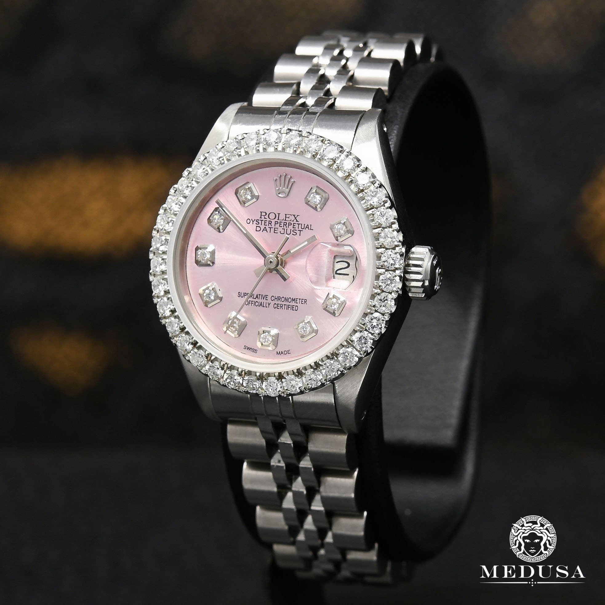 Rolex watch | Rolex Datejust 26mm Woman Watch - Pink Stainless Stainless