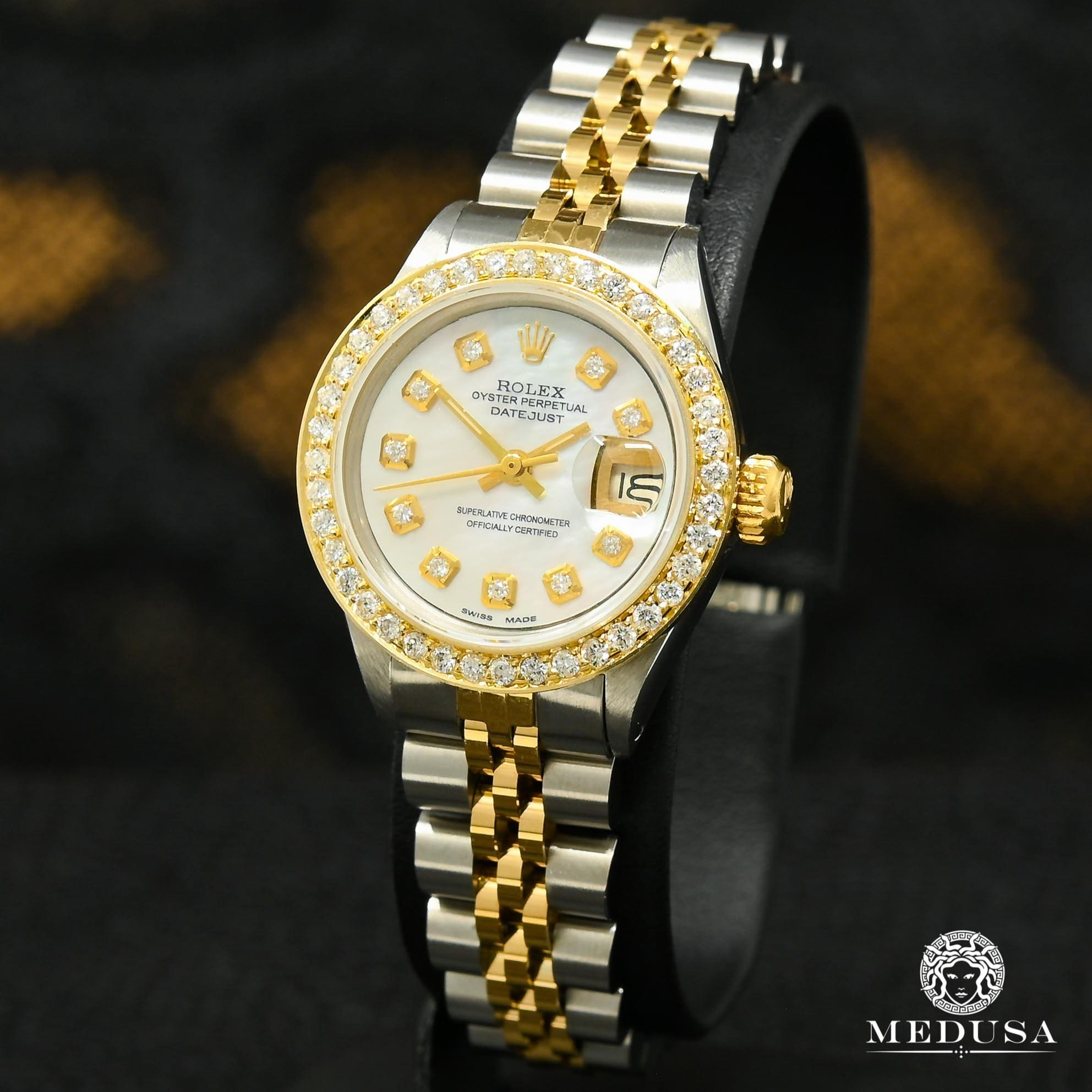 Montre Rolex | Montre Femme Rolex Datejust 26mm - White ''Mother of Pearl'' Or 2 Tons