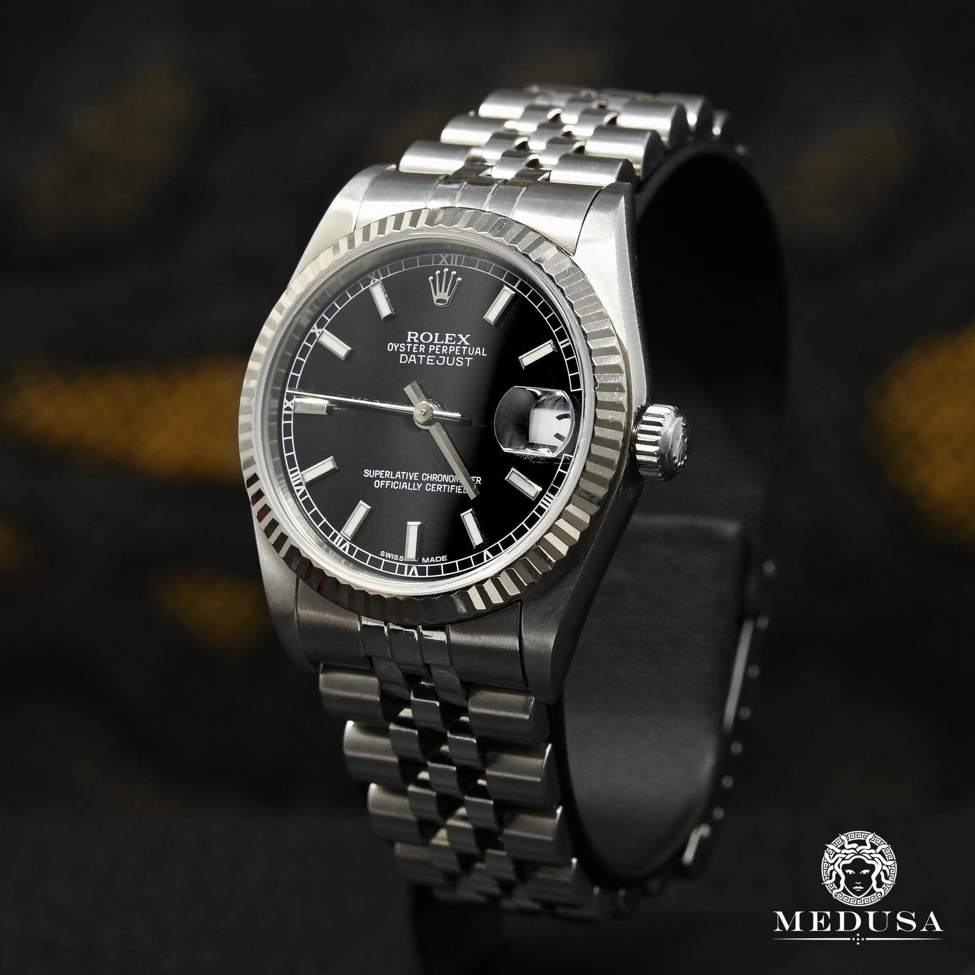Rolex 31mm black stainless steel