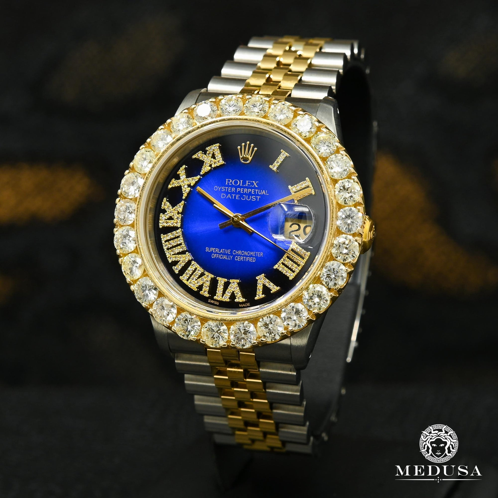 Rolex Datejust 36mm - Big Bezel Black/Blue