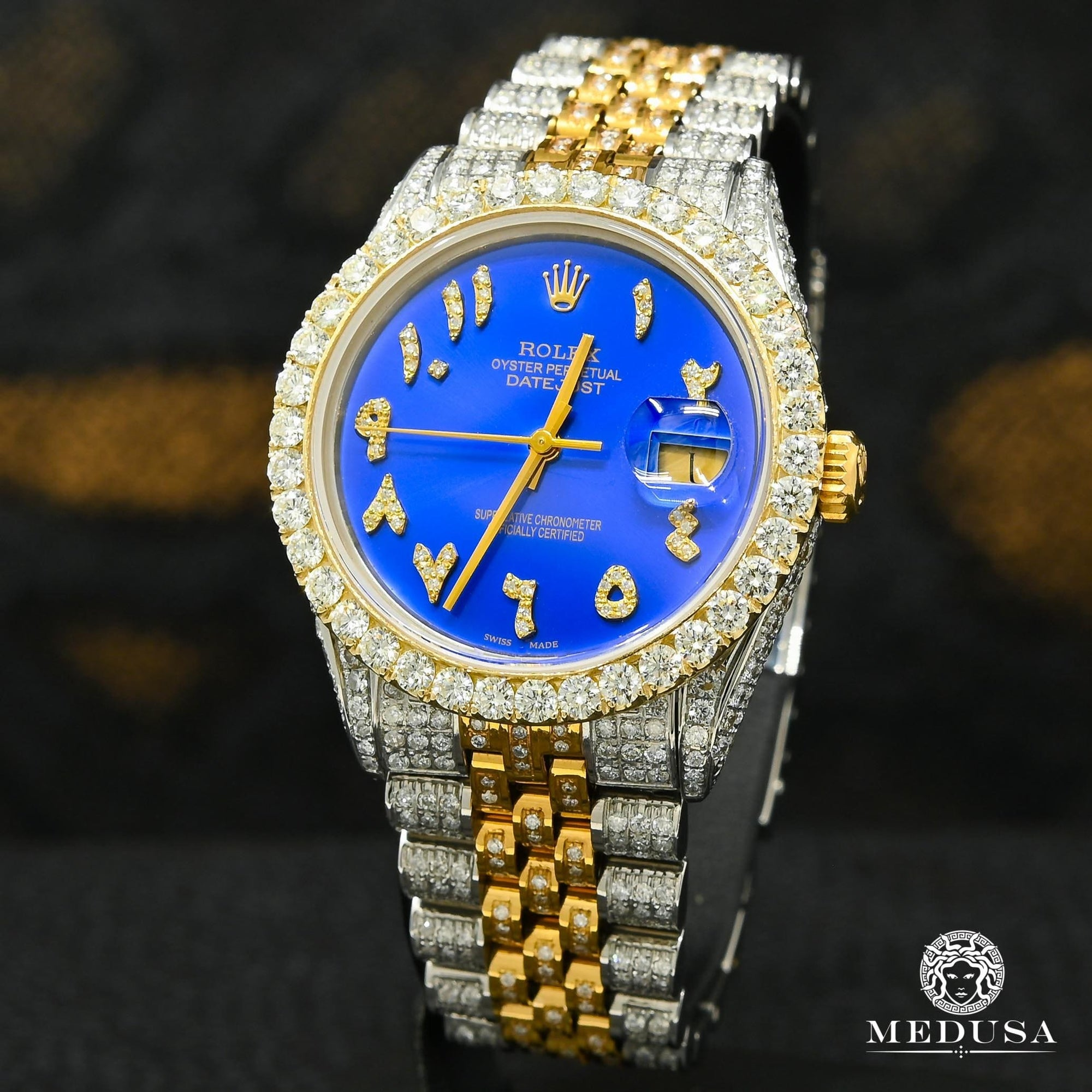 Rolex Datejust 36mm - Bleu Arabic Iced Out