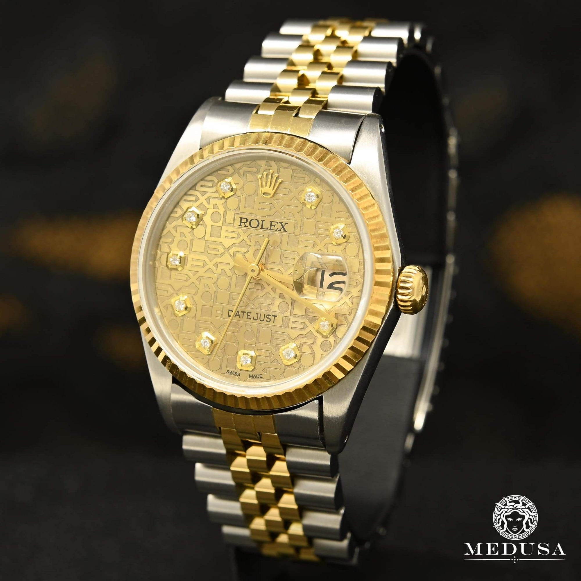 36mm Datejust Diamant In-Stock Jubilee - Rolex Datejust 36mm - Cadran Or Jubilee Montre Homme Bijoux Medusa - Canada Quebec Chicoutimi