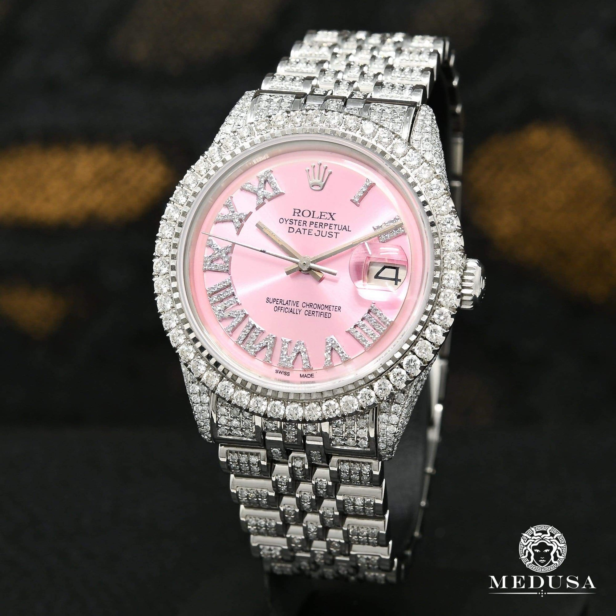 Rolex Datejust 36mm - Pink Iced Out