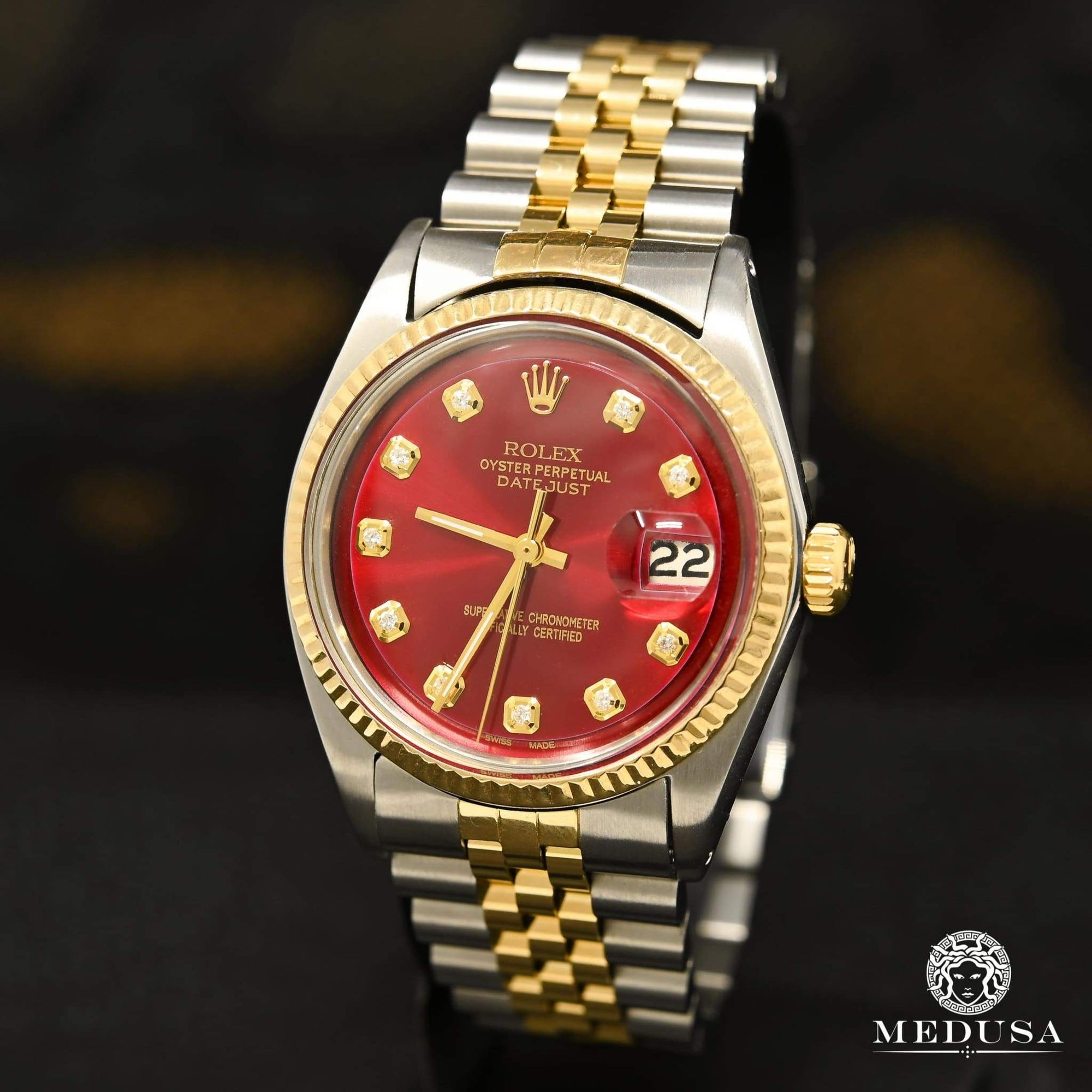 Montre Rolex | Montre Homme Rolex Datejust 36mm - Red Vintage