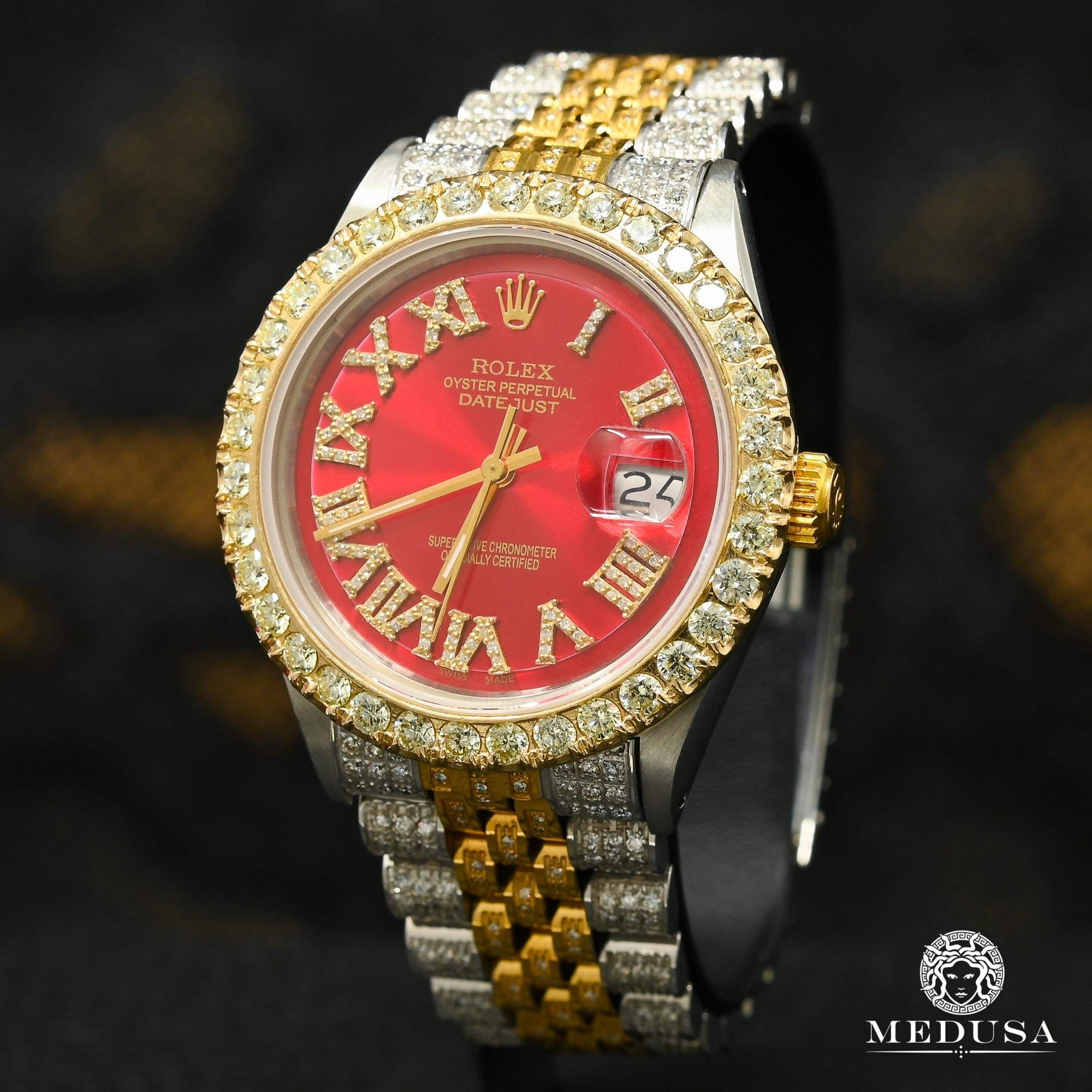 Rolex Datejust 36mm - Rouge Jubilee Iced