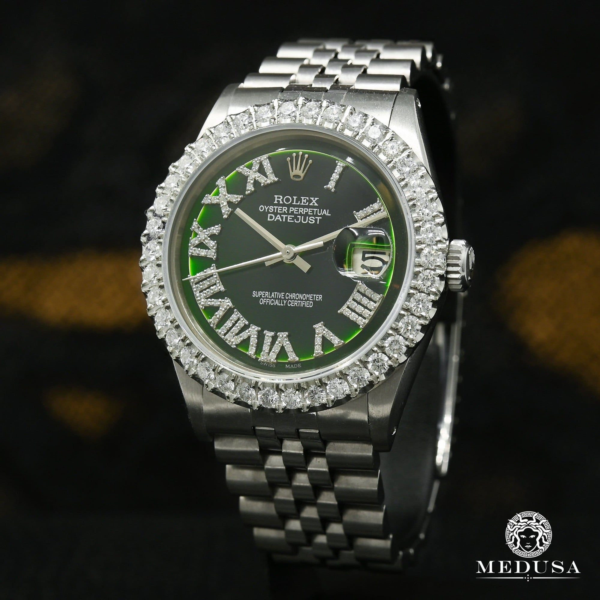 Rolex Datejust 36mm - Stainless Green Romain