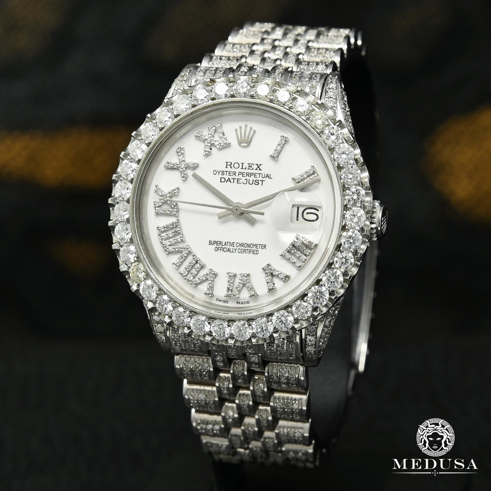 Rolex Datejust 36mm - White Iced Out