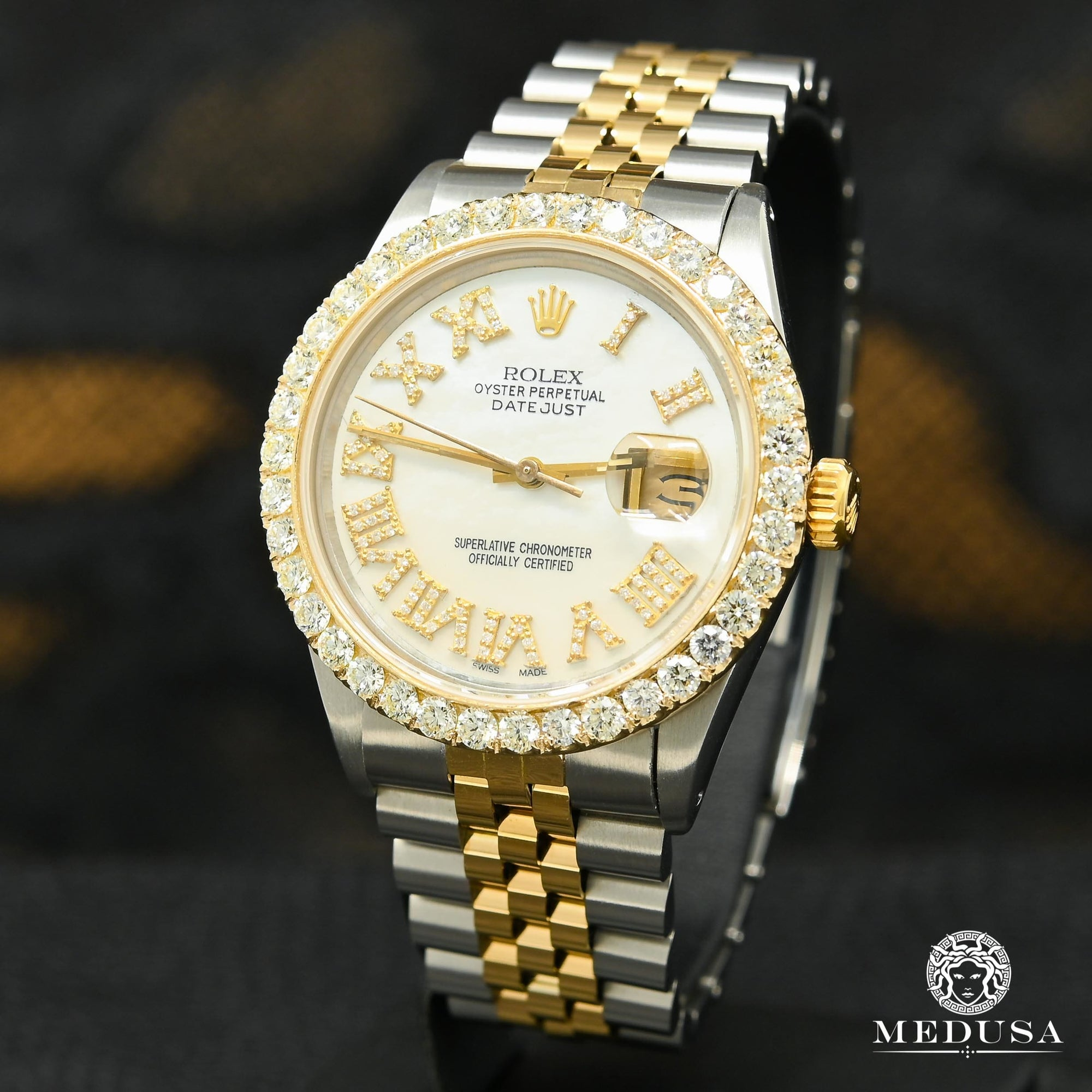 Montre Rolex | Montre Homme Rolex Datejust 36mm - White ''Mother of Pearl'' Or 2 Tons