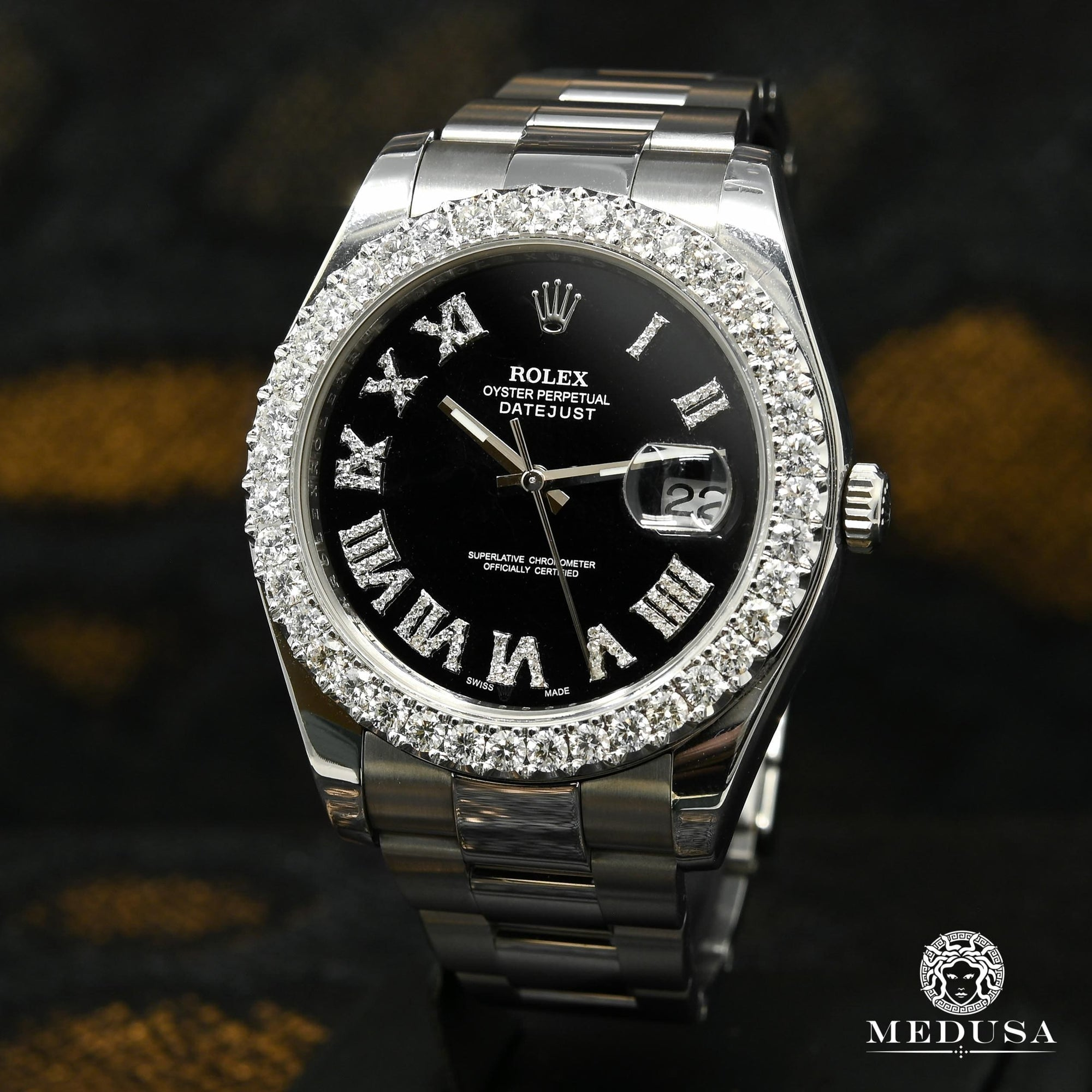 Rolex Datejust 41mm - Black Romain Iced