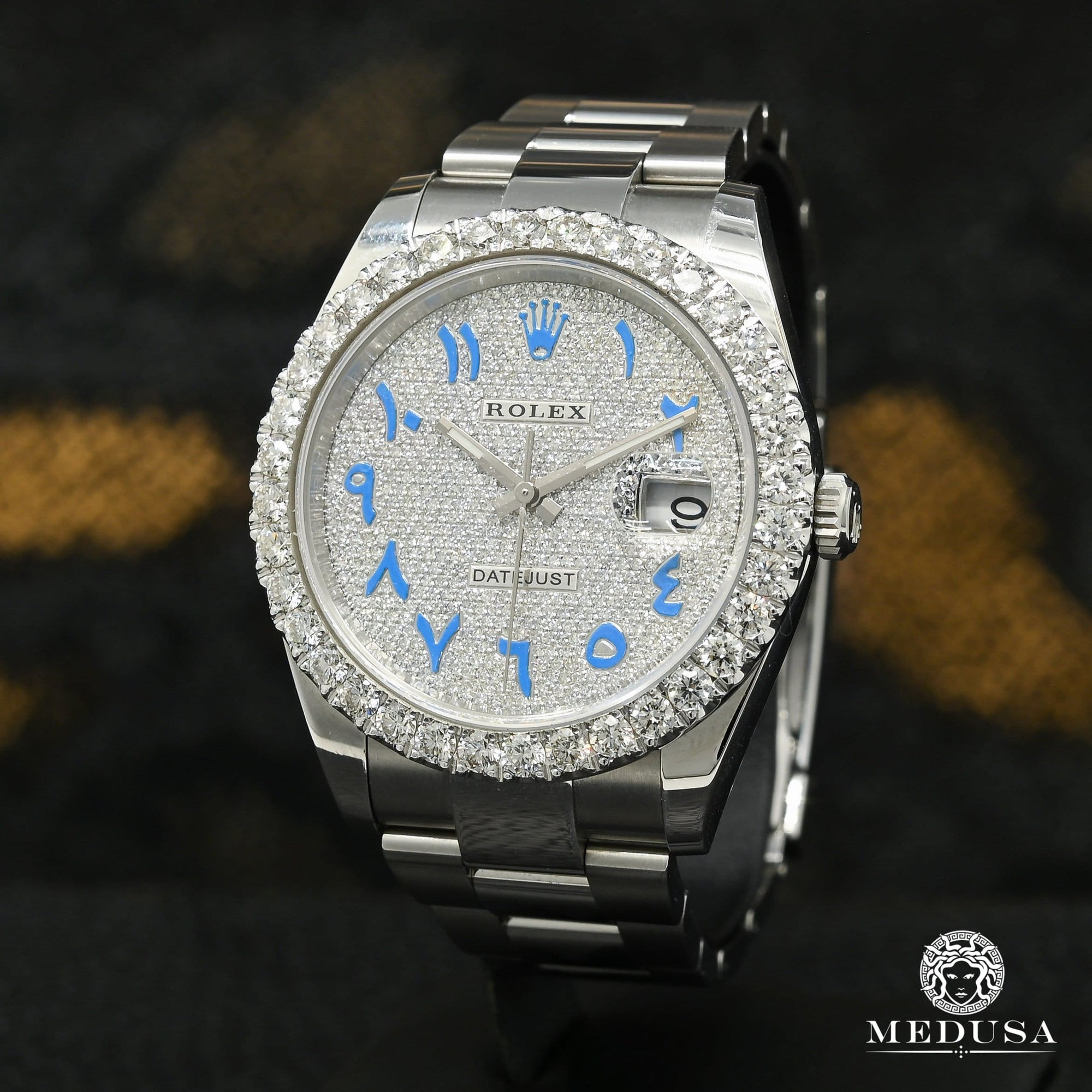 Rolex Datejust 41mm - Blue Arabic Iced