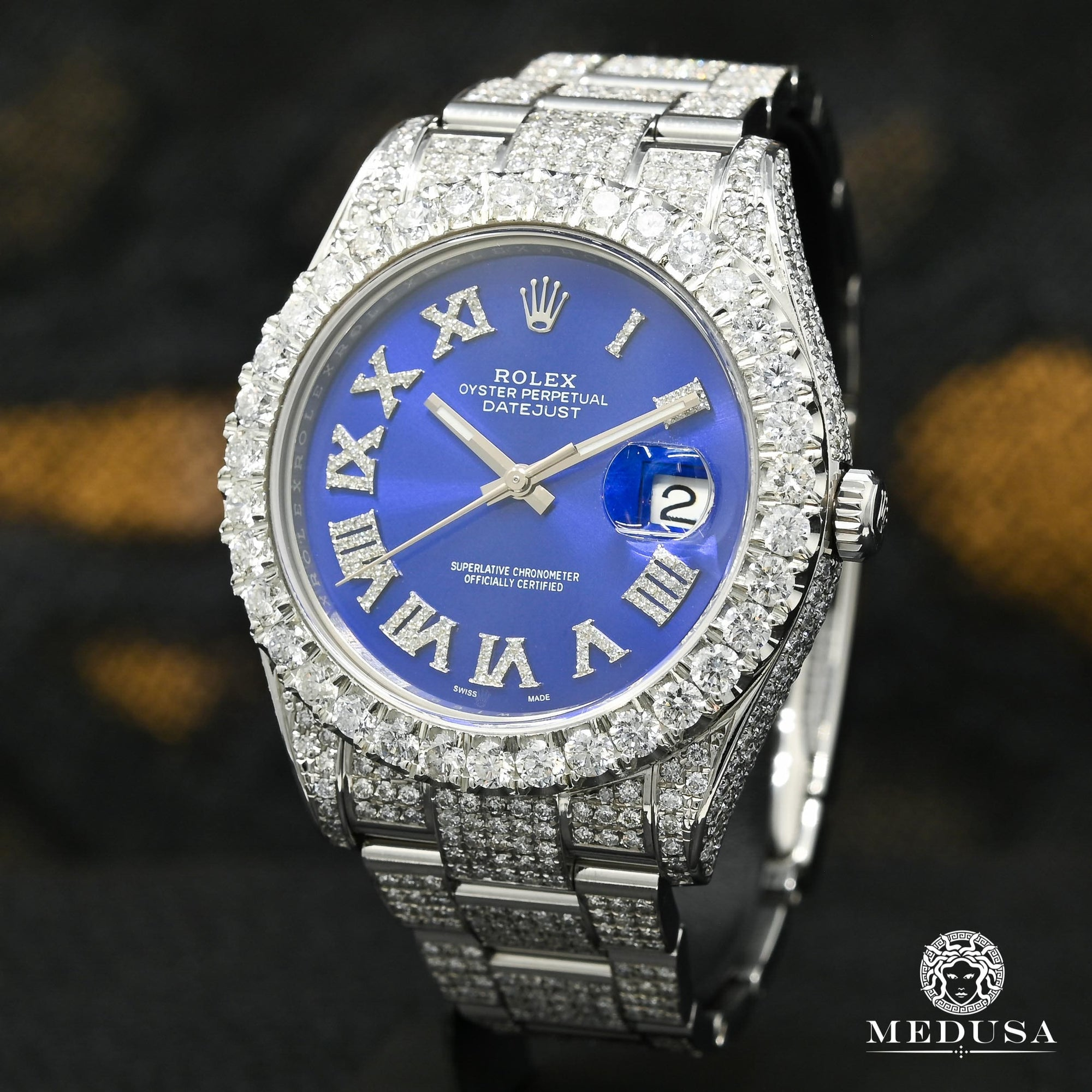 Rolex Datejust 41mm - Blue Romain Full Iced