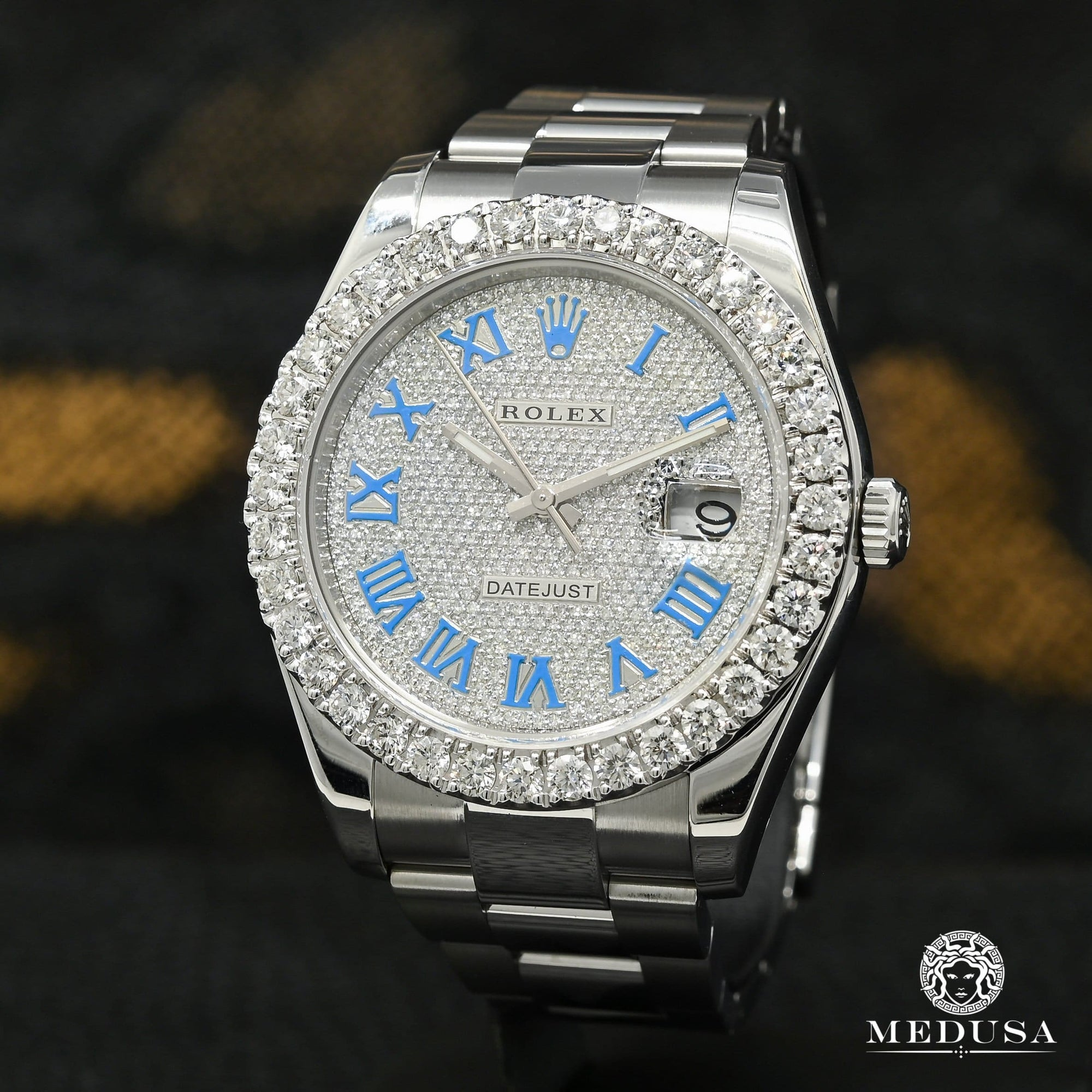 Rolex Datejust 41mm - Blue Romain Iced