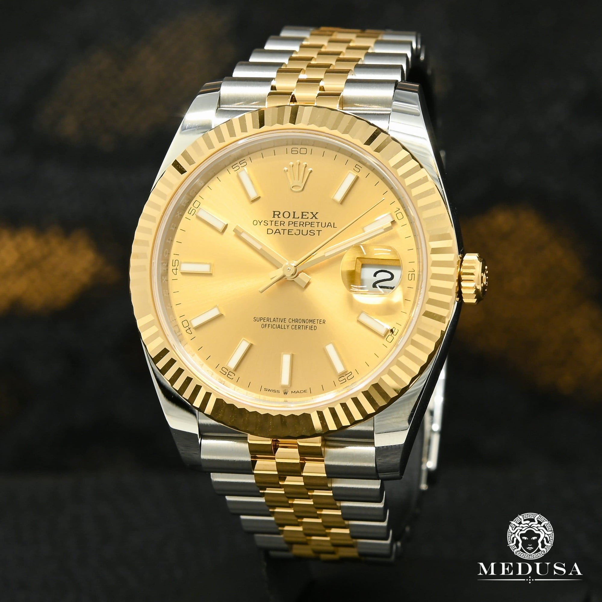 Rolex Datejust 41mm - Champagne Jubilee Fluted