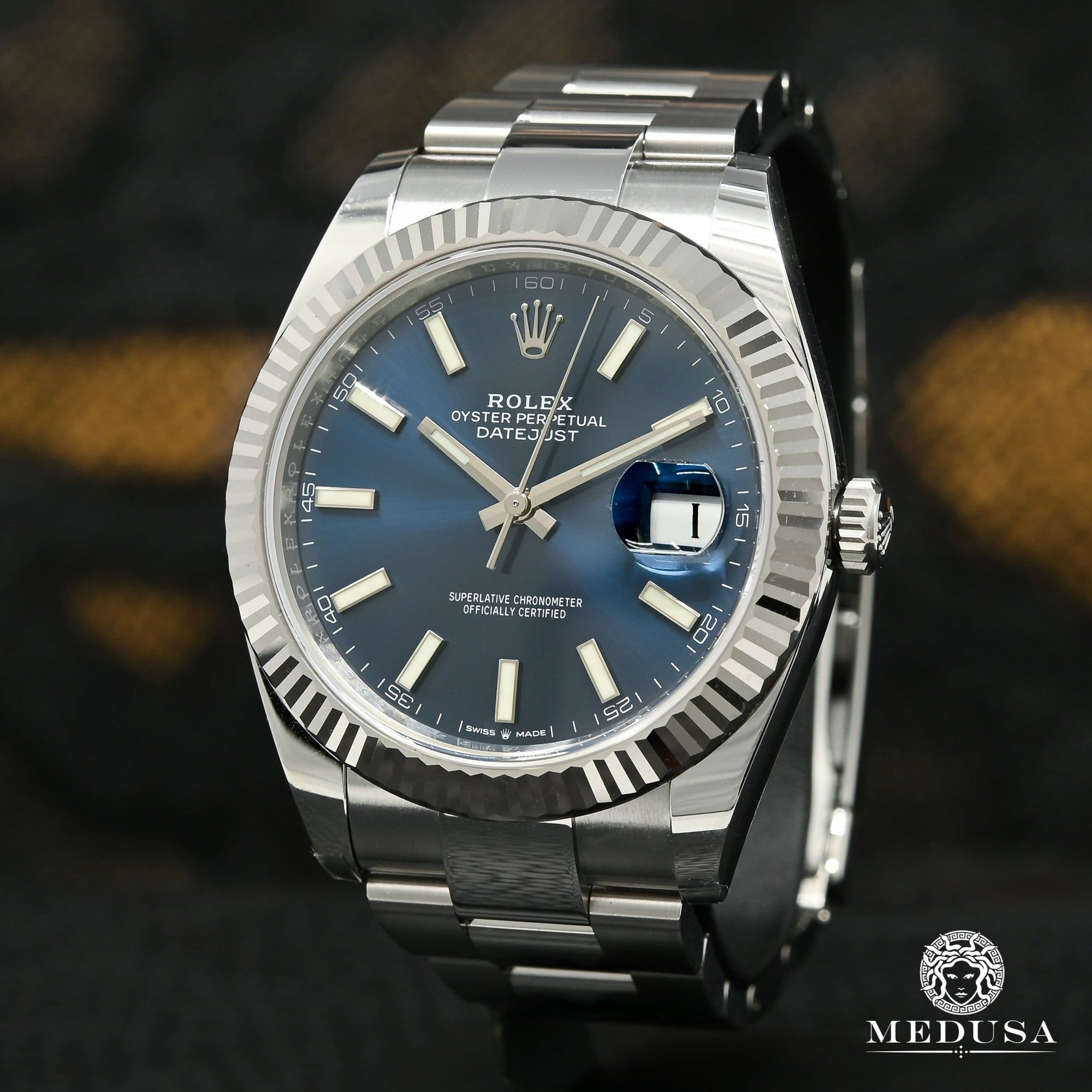 Rolex Datejust 41mm - Fluted Blue Stick