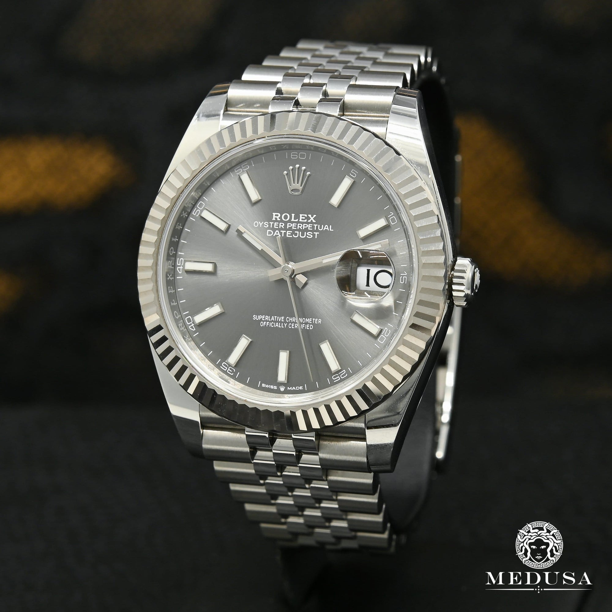 Rolex Datejust 41mm - Fluted Jubilee Rhodium