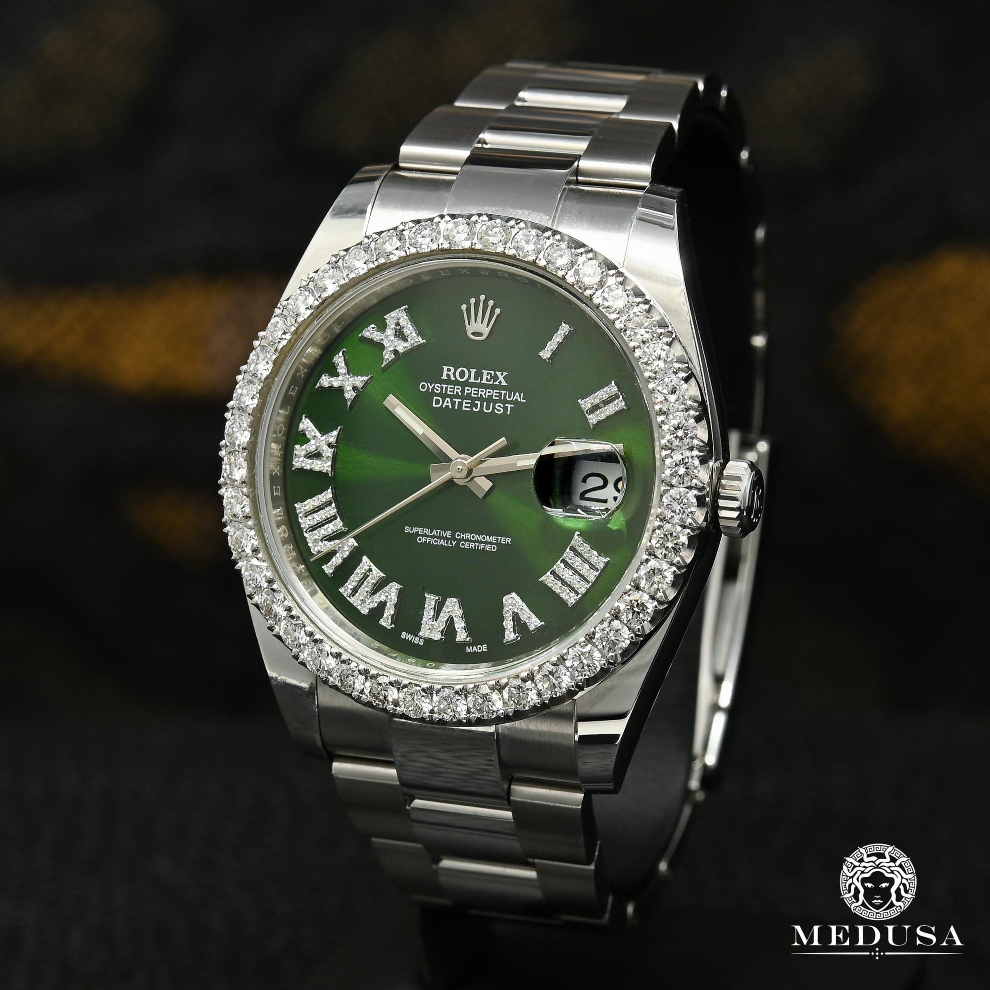 Rolex Datejust 41mm - Green Romain Iced