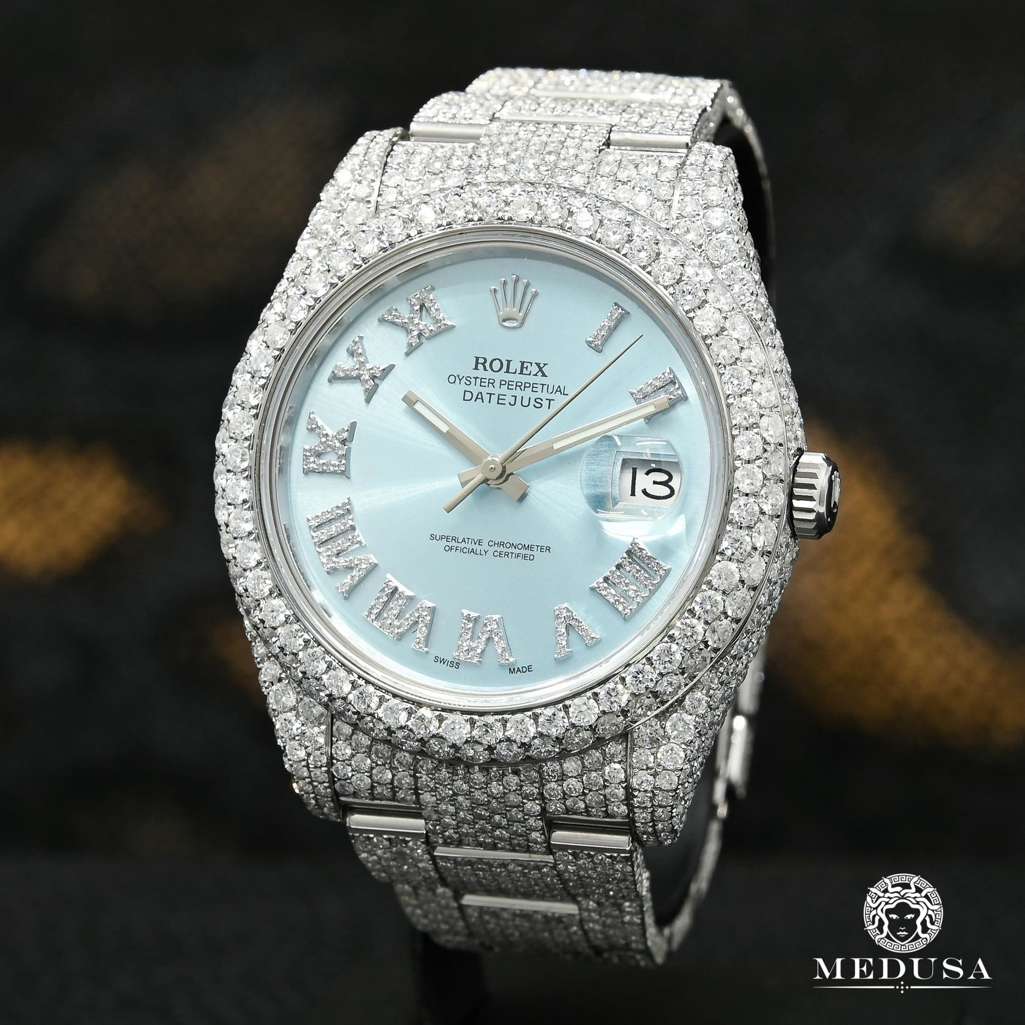 Rolex Datejust 41mm - Honeycomb Cyan