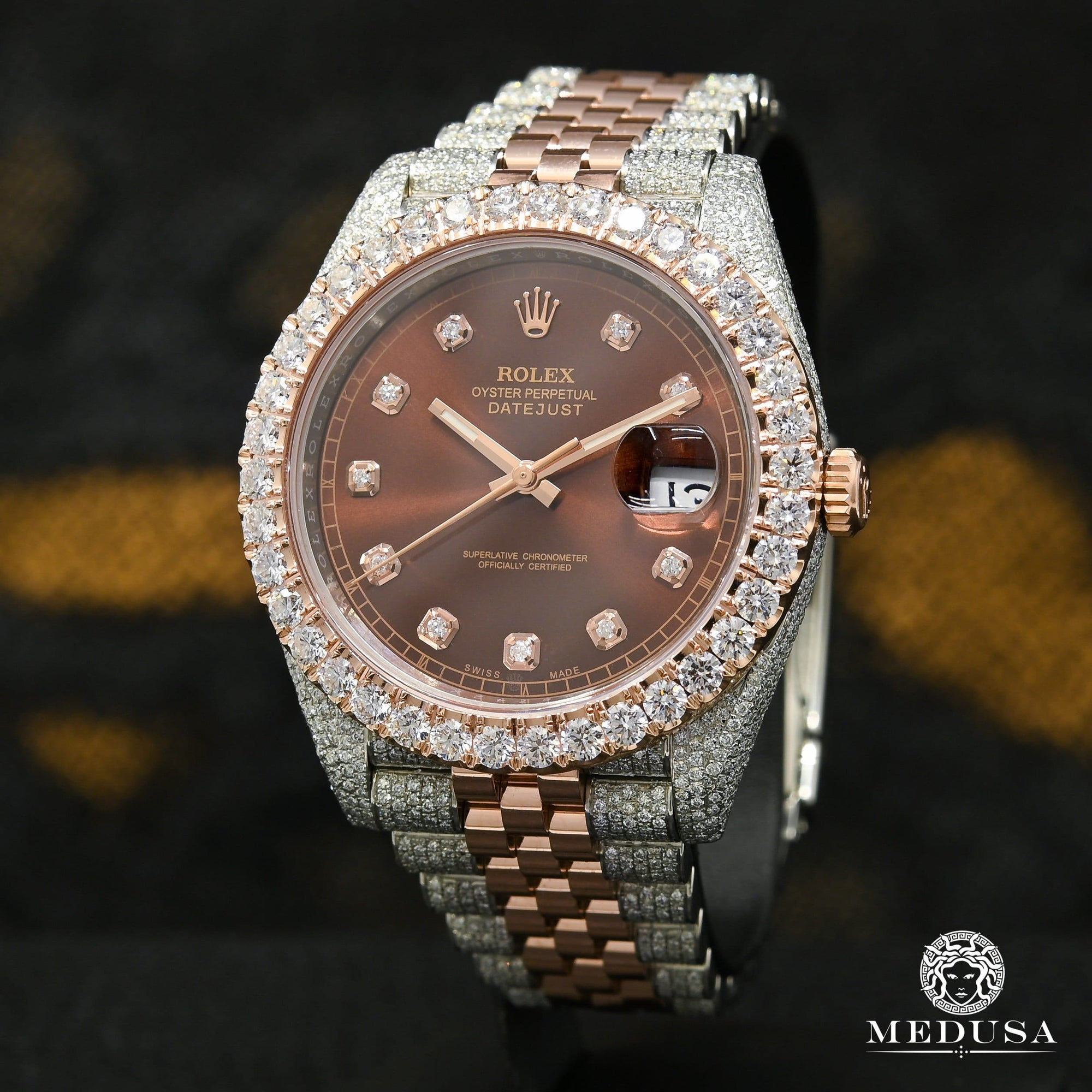 Rolex Datejust 41mm - Jubilee Everose Iced