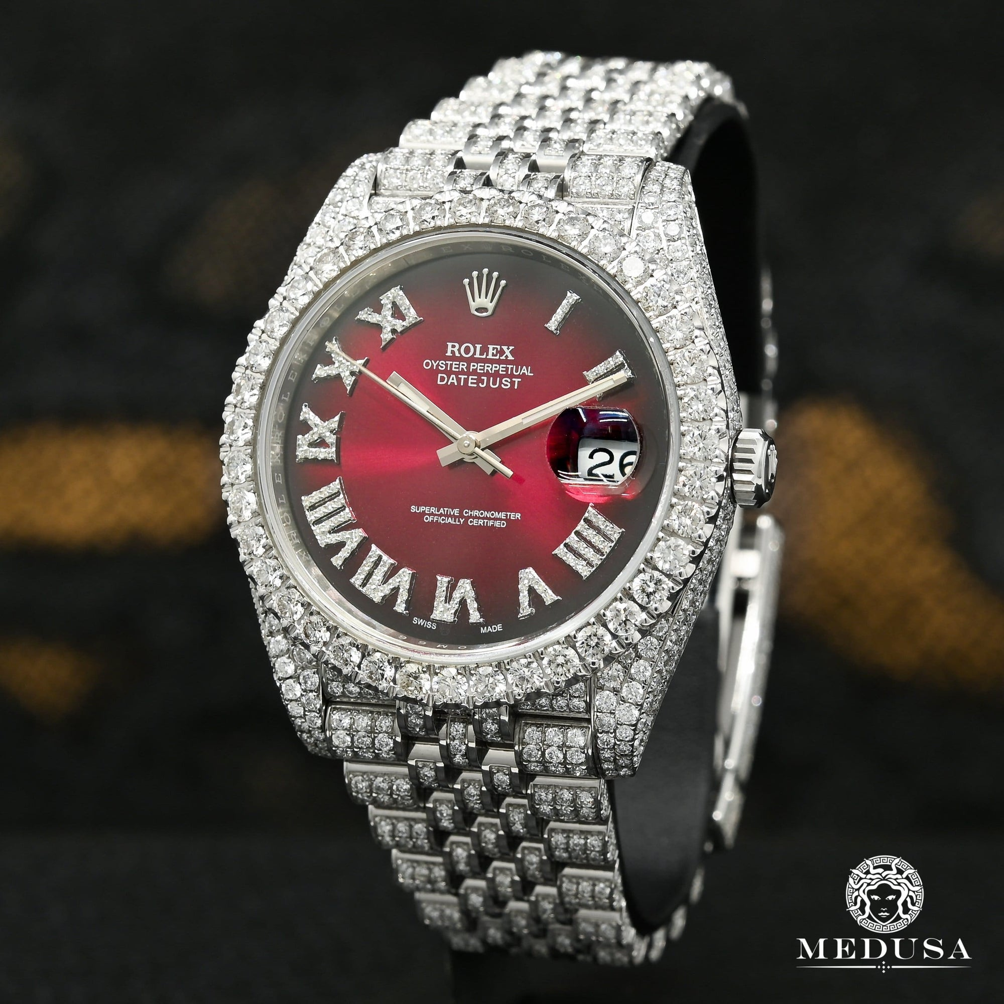 Rolex Datejust 41mm - Jubilee Honeycomb Red