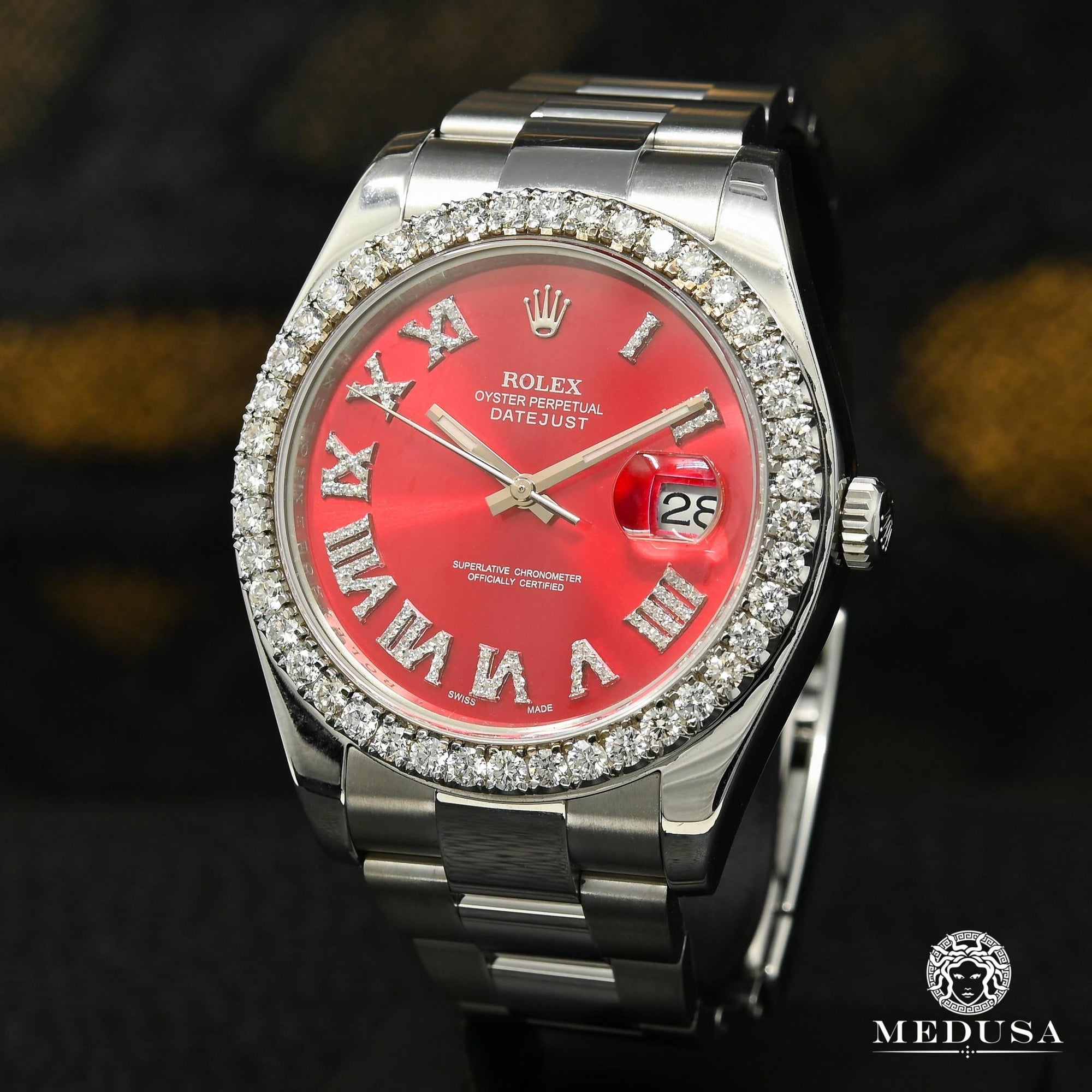Rolex Datejust 41mm - Red Romain Iced