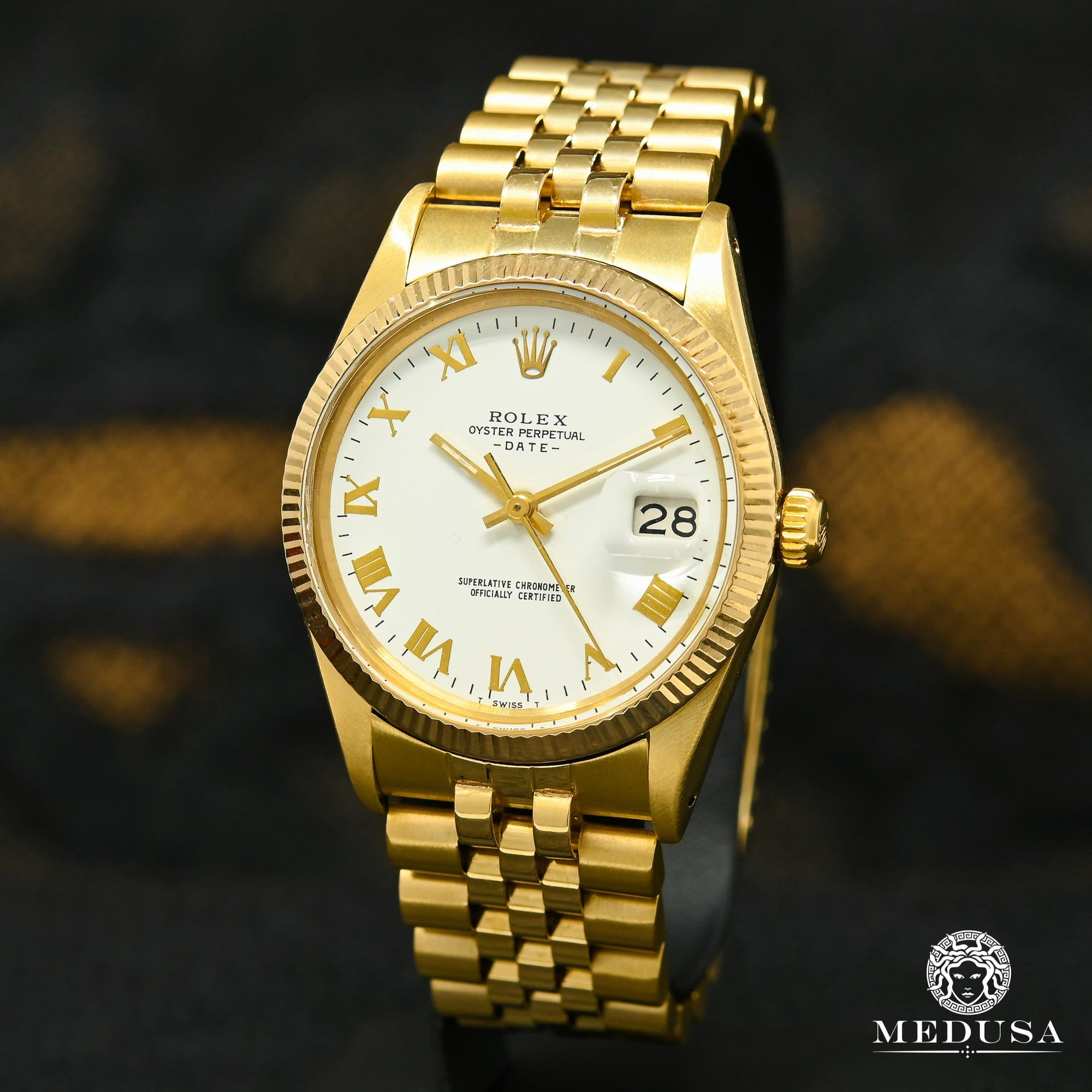 Rolex Gold Datejust 34mm - White