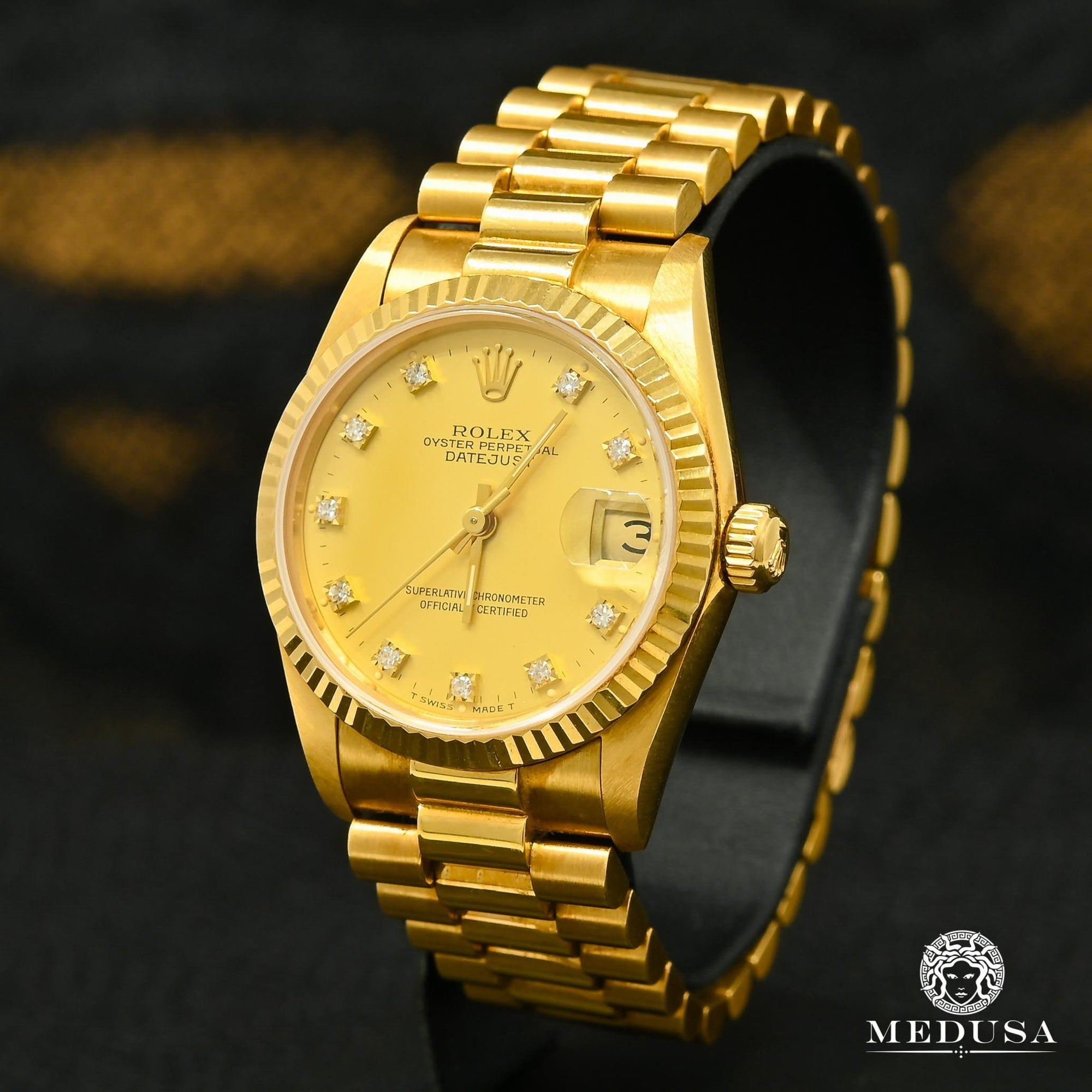 Montre Rolex | Montre Femme Rolex Lady-Datejust 31mm - President Or Jaune